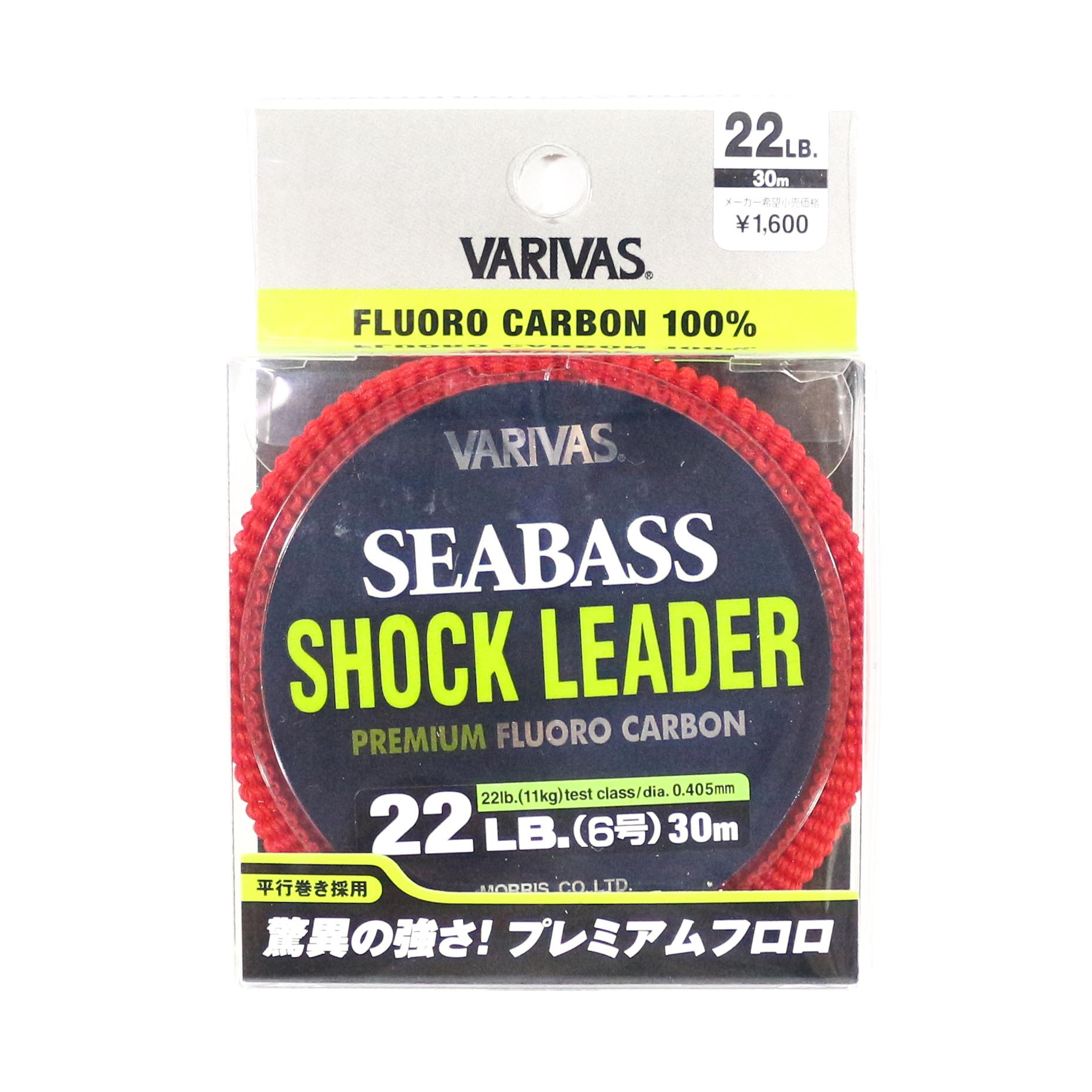 Varivas Fluorocarbon Shock Leader Line Sea Bass 30m 22lb (0793)