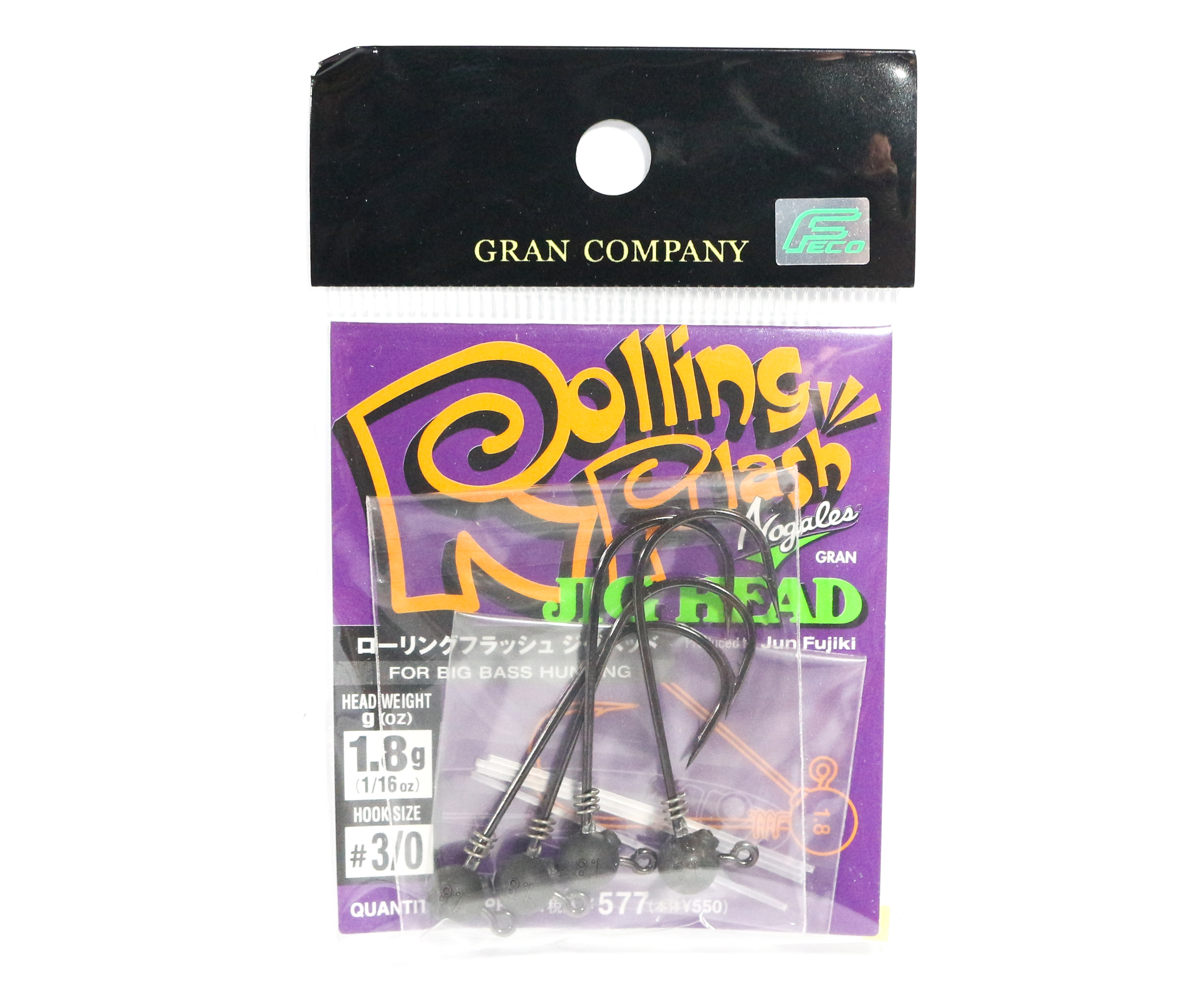 Sale Varivas Nogales Rolling Flash Jig Head 1.8g Size 3/0 (5415)