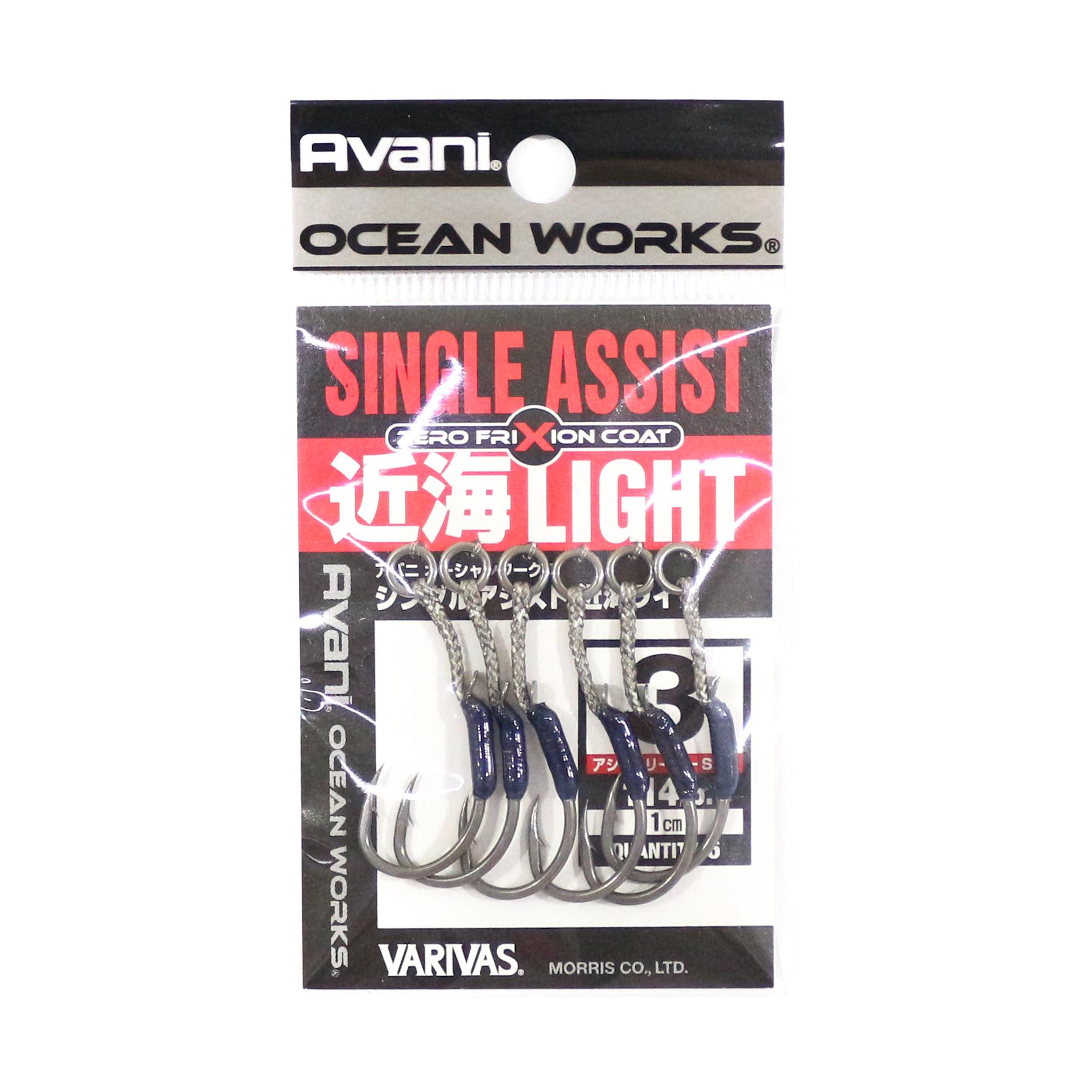 Varivas AH-38 Ocean Works Single Assist Kinkai Light Hook Size 3 (4315)