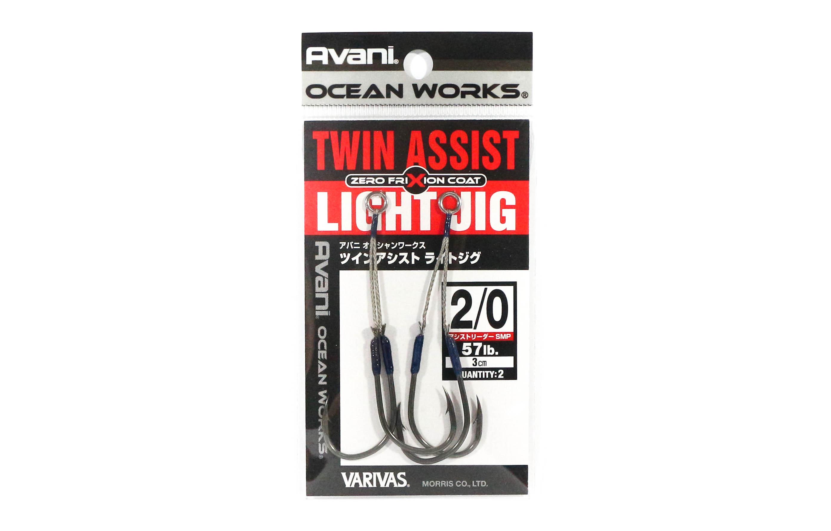 Varivas AH-64 Ocean Works Twin Assist Light Jig Size 2/0 - 3cm (4575)