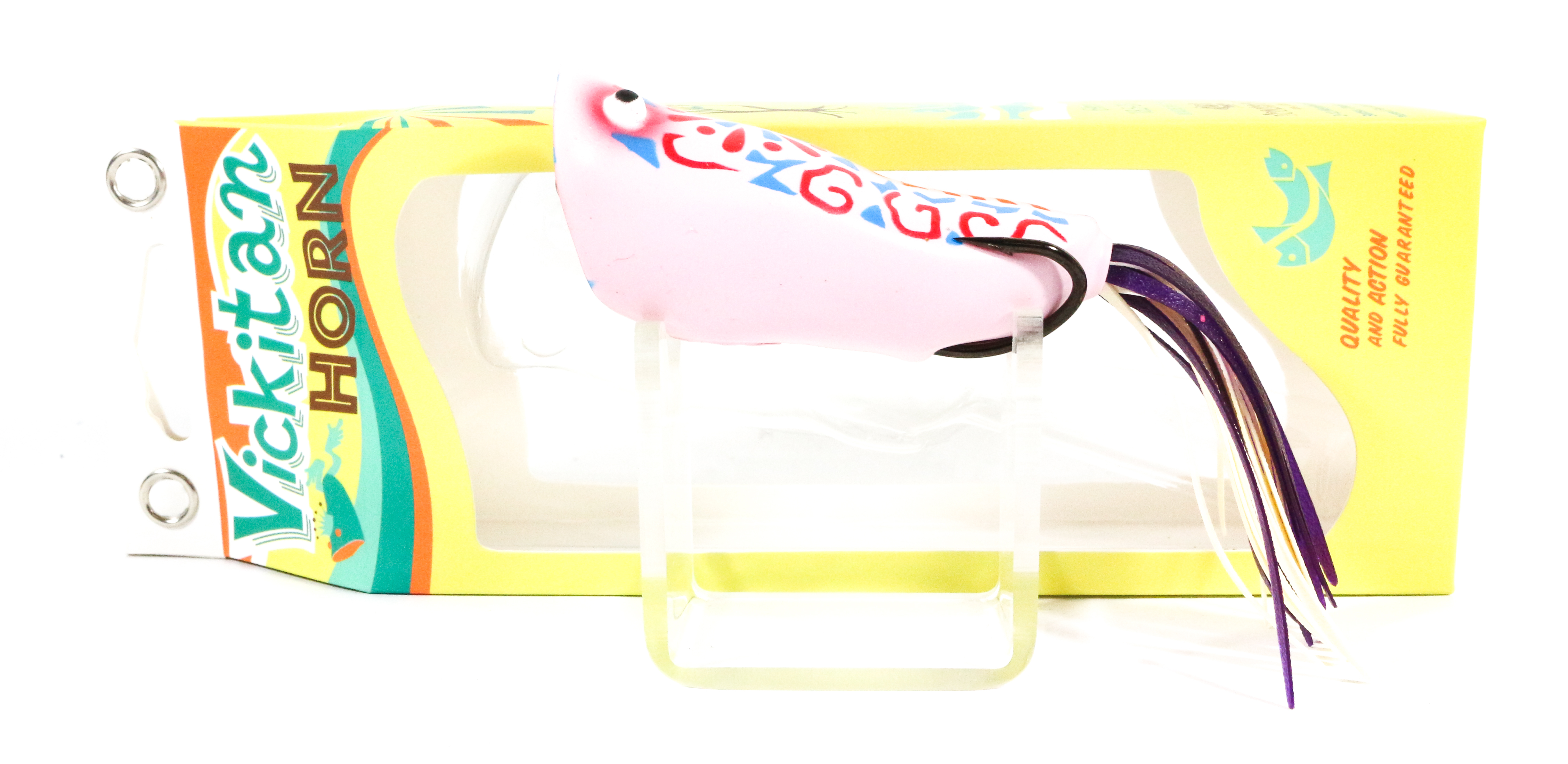 Sale Vickitan Horn Topwater Soft Frog Lure Crazy Frog Pink (0599)