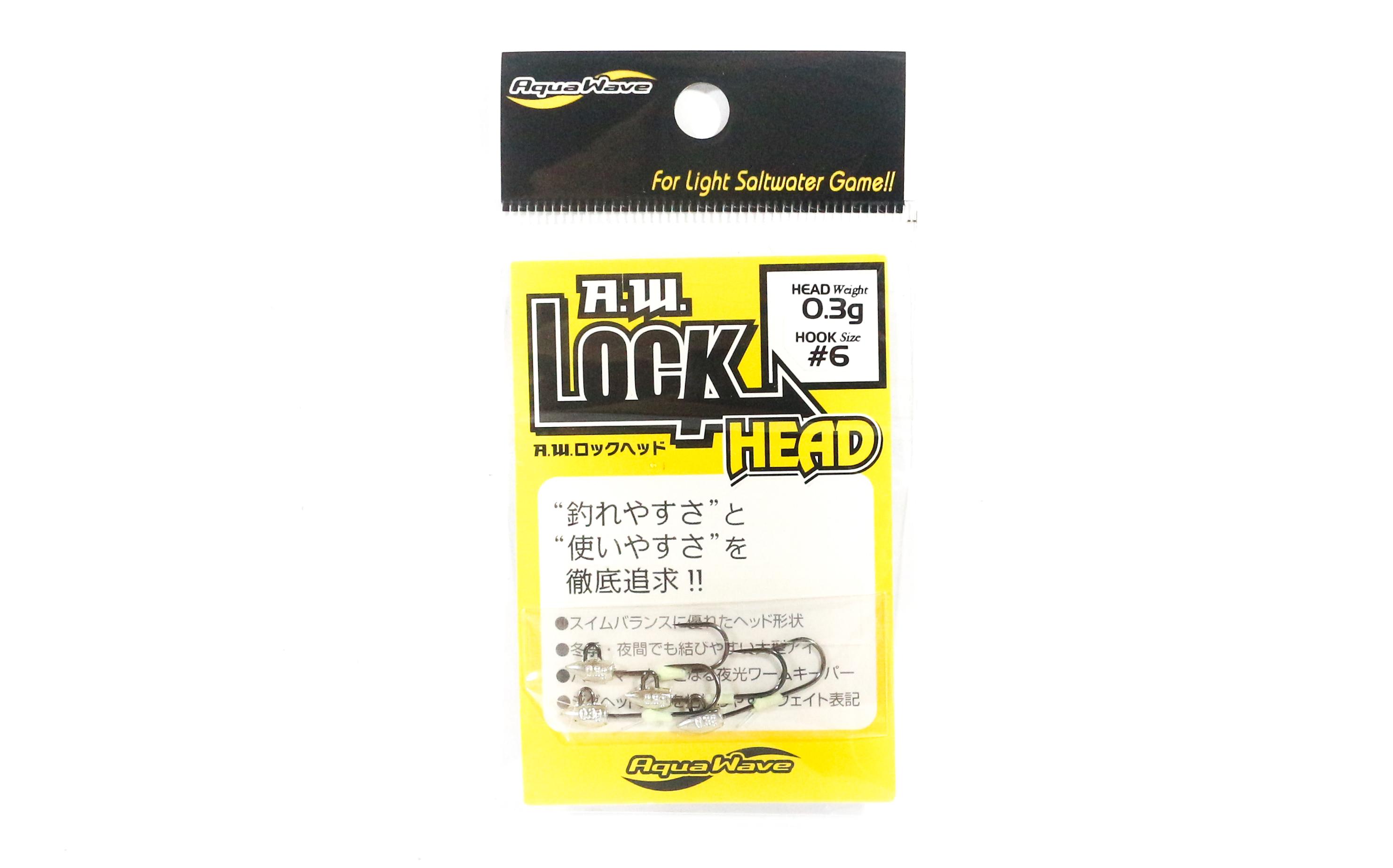 Viva A.W Lock Head Jig Head 0.3 g Size 6 (8004)