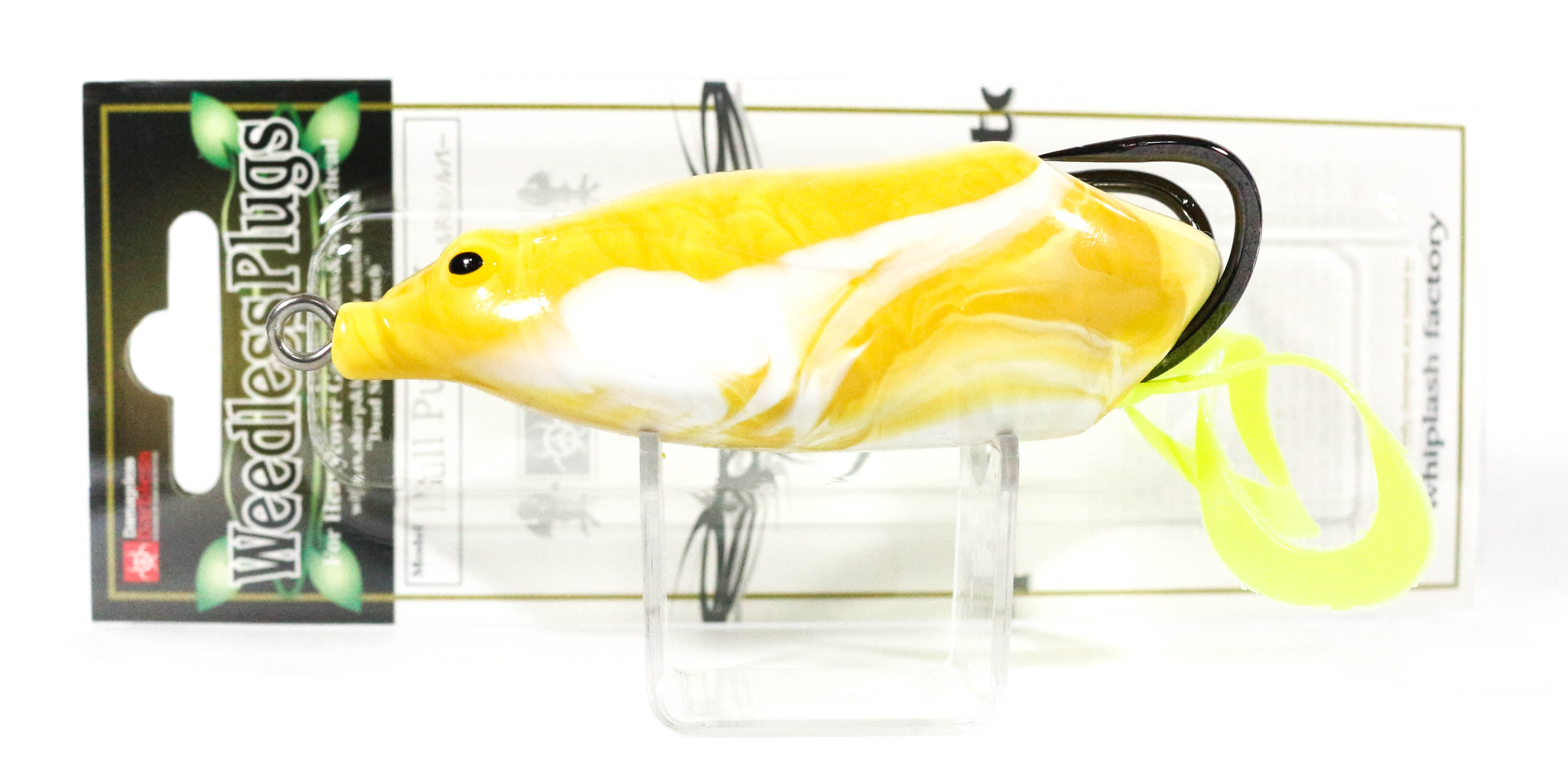 Sale Whiplash Factory Bull Pup DC Frog Soft Plastic Floating Lure MU/WH (6095)