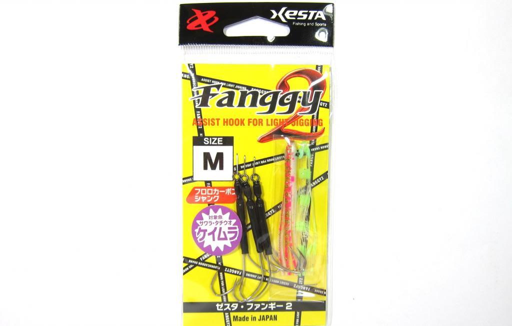 Xesta Fanggy 2 Skirted Twin Assist Hooks Size M ( 1 ) (9979)