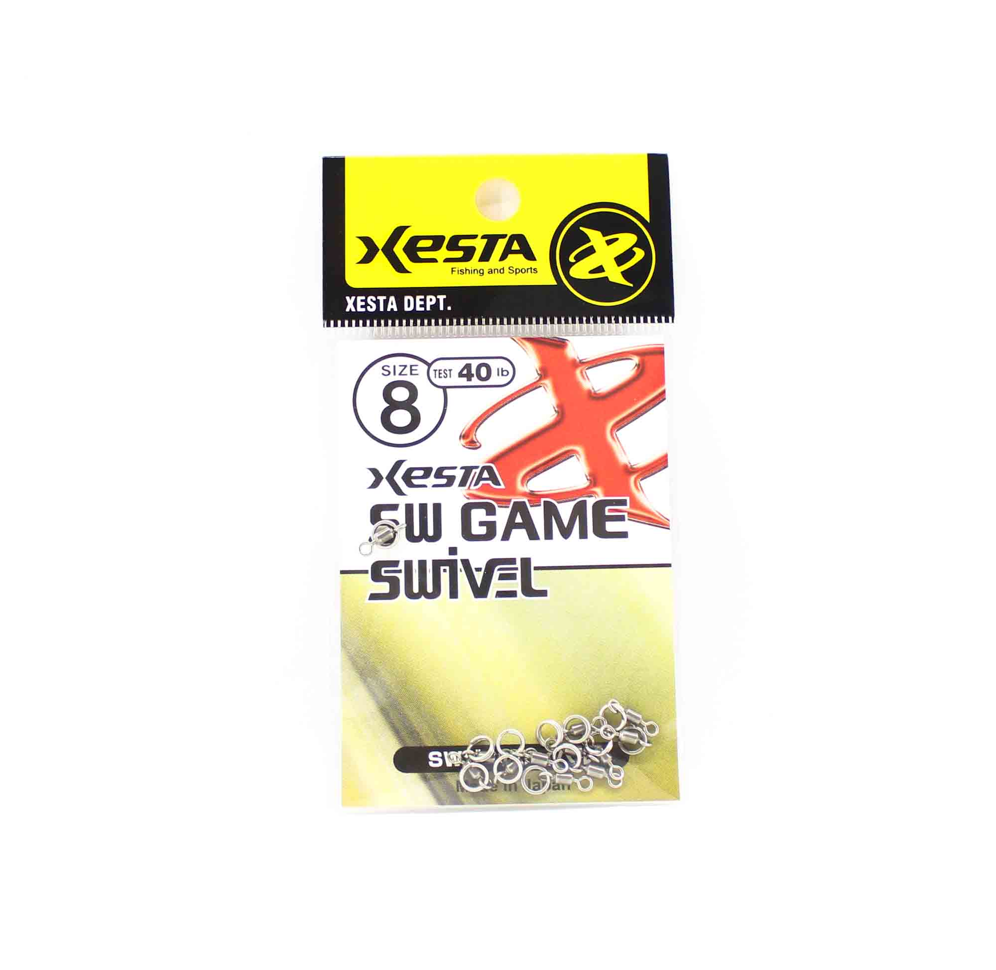Xesta SW Game Swivel Split Ring Size 8 40lb (8237)