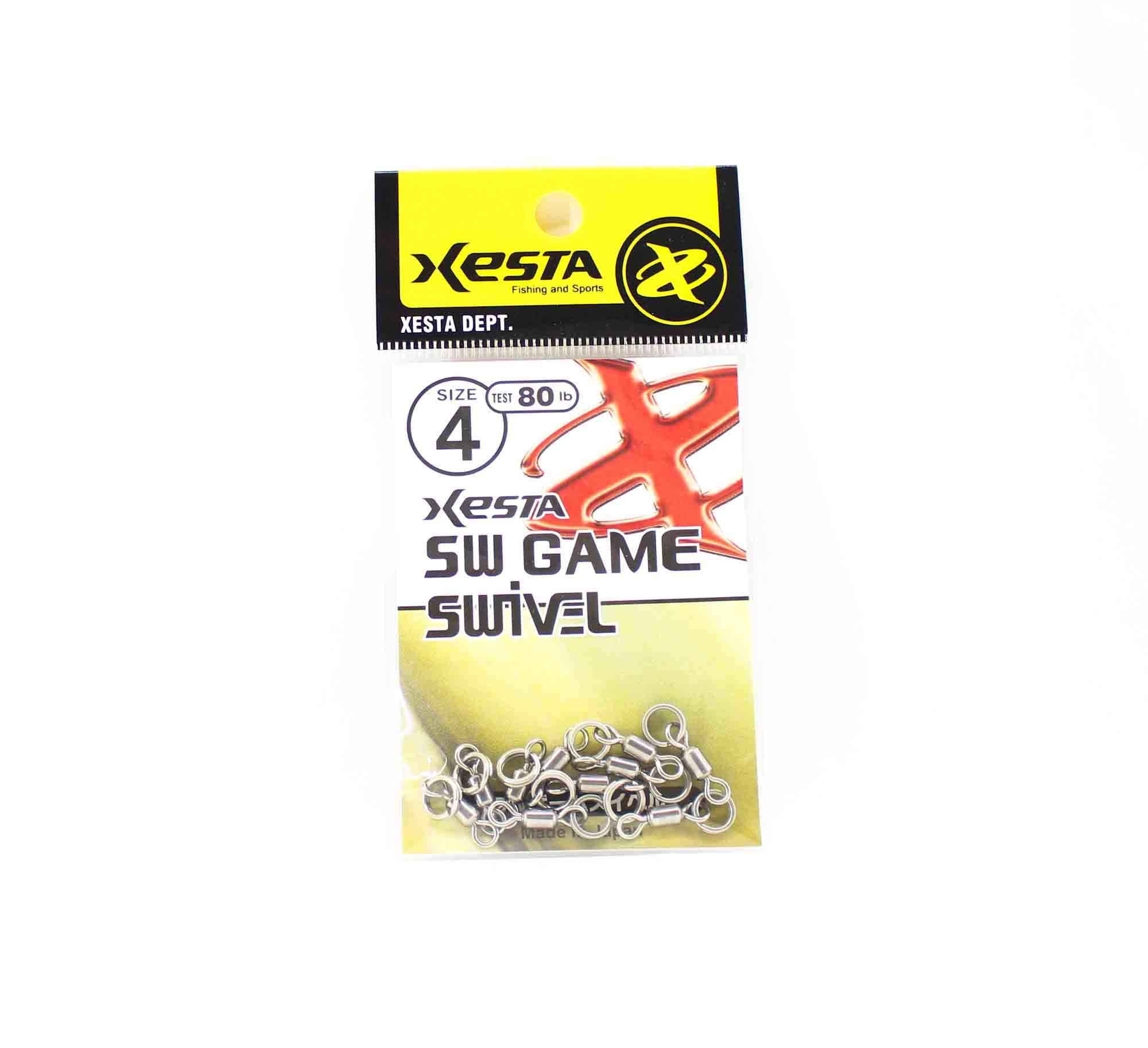 Xesta SW Game Swivel Split Ring Size 4 80lb (8251)