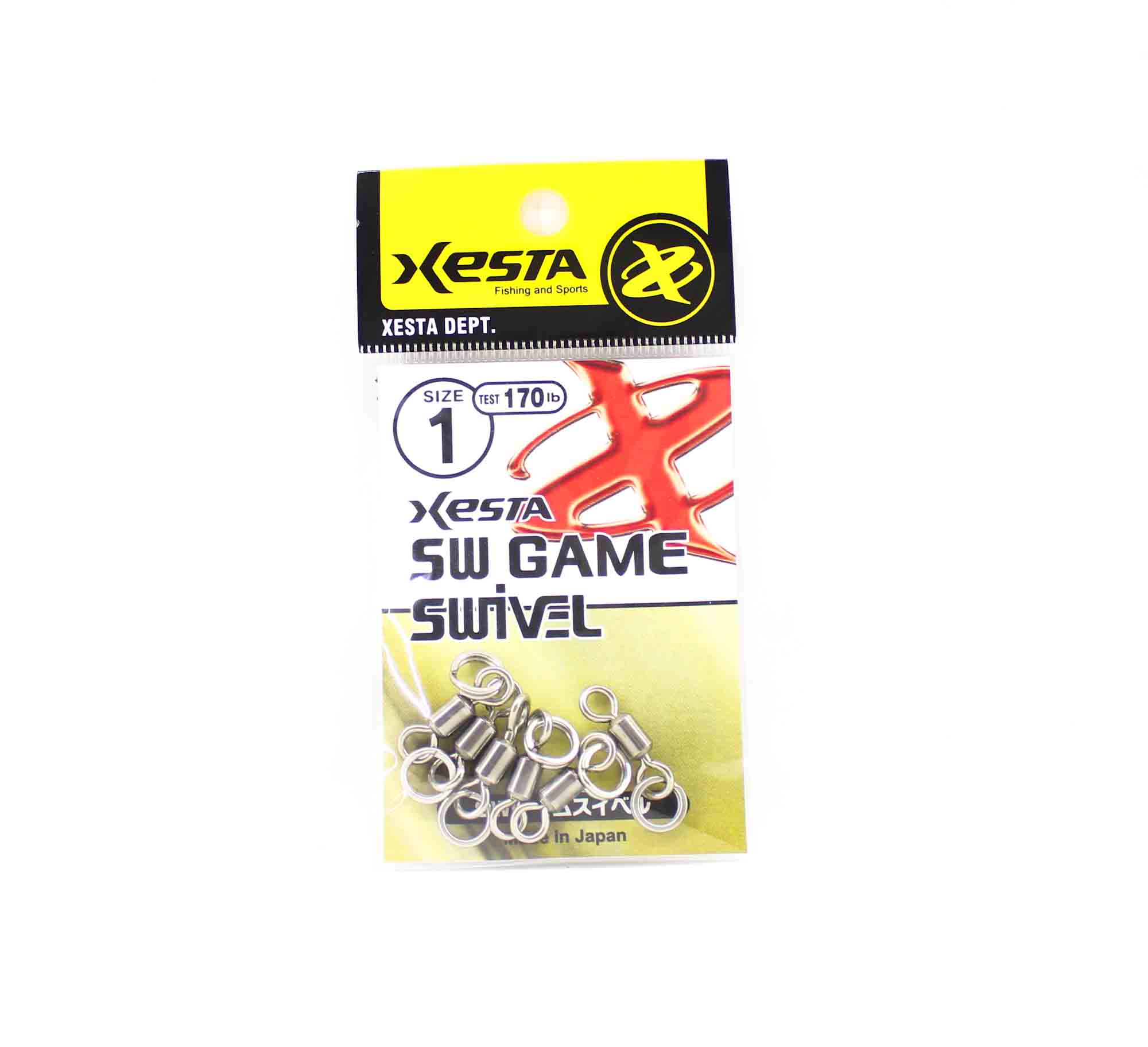 Xesta SW Game Swivel Split Ring Size 1 170lb (8275)