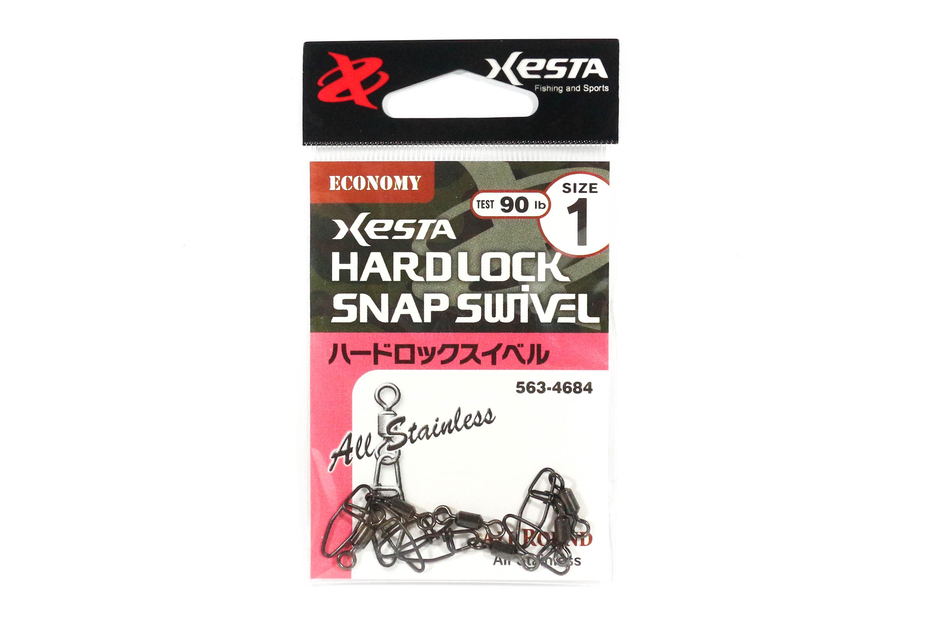 Xesta Hard Lock Snap Swivel Size 1 90 lb , 6 pieces (4684)