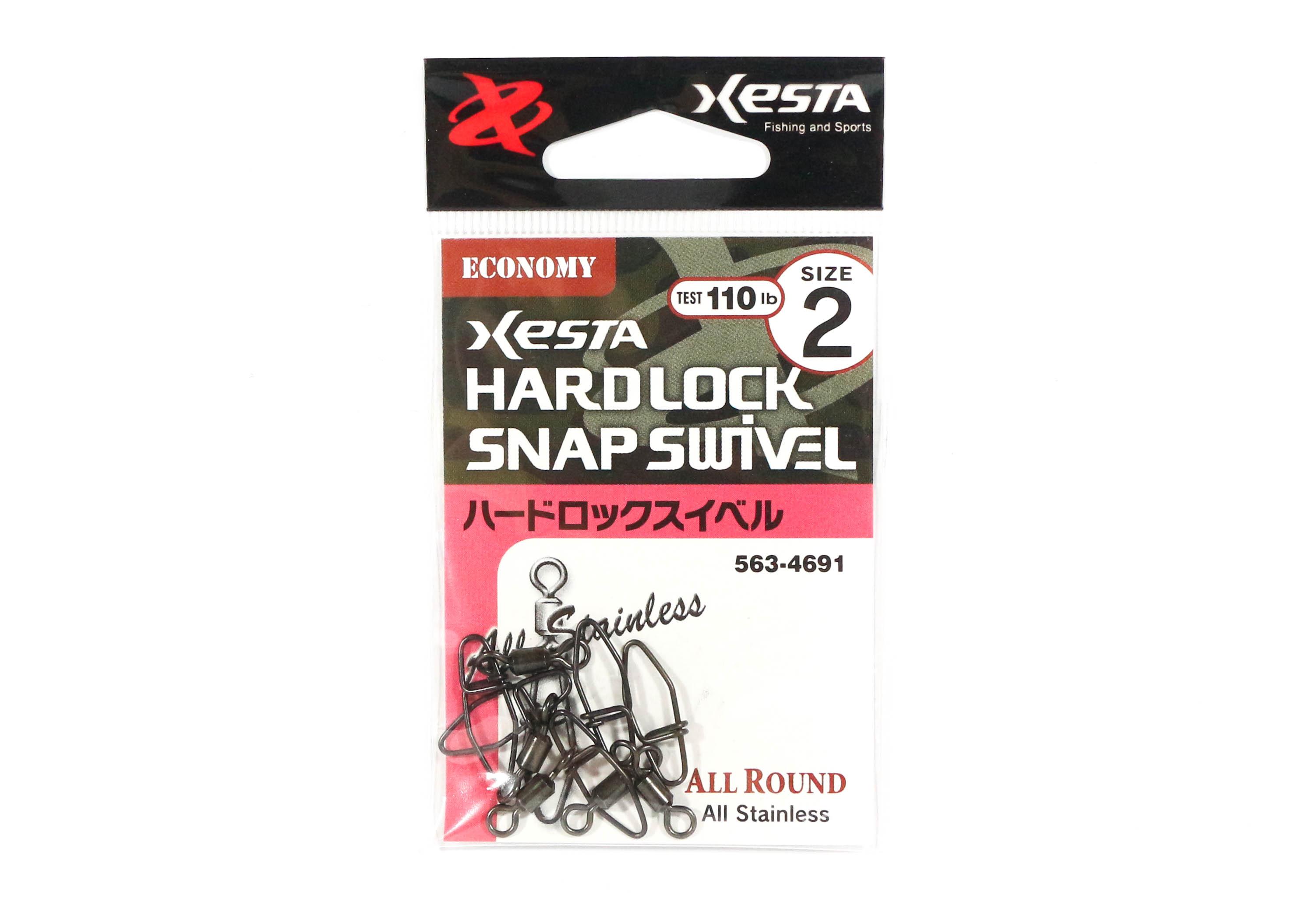 Xesta Hard Lock Snap Swivel Size 2 110 lb , 5 pieces (4691)