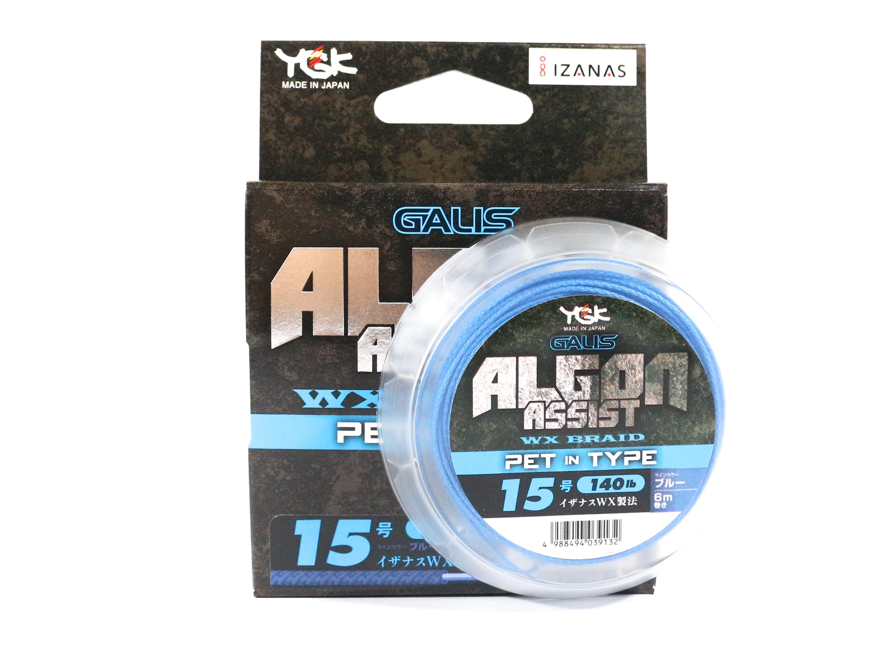 YGK Algon Assist WX Braid PET in Type 6m Size 15, 140lb Blue (9132)