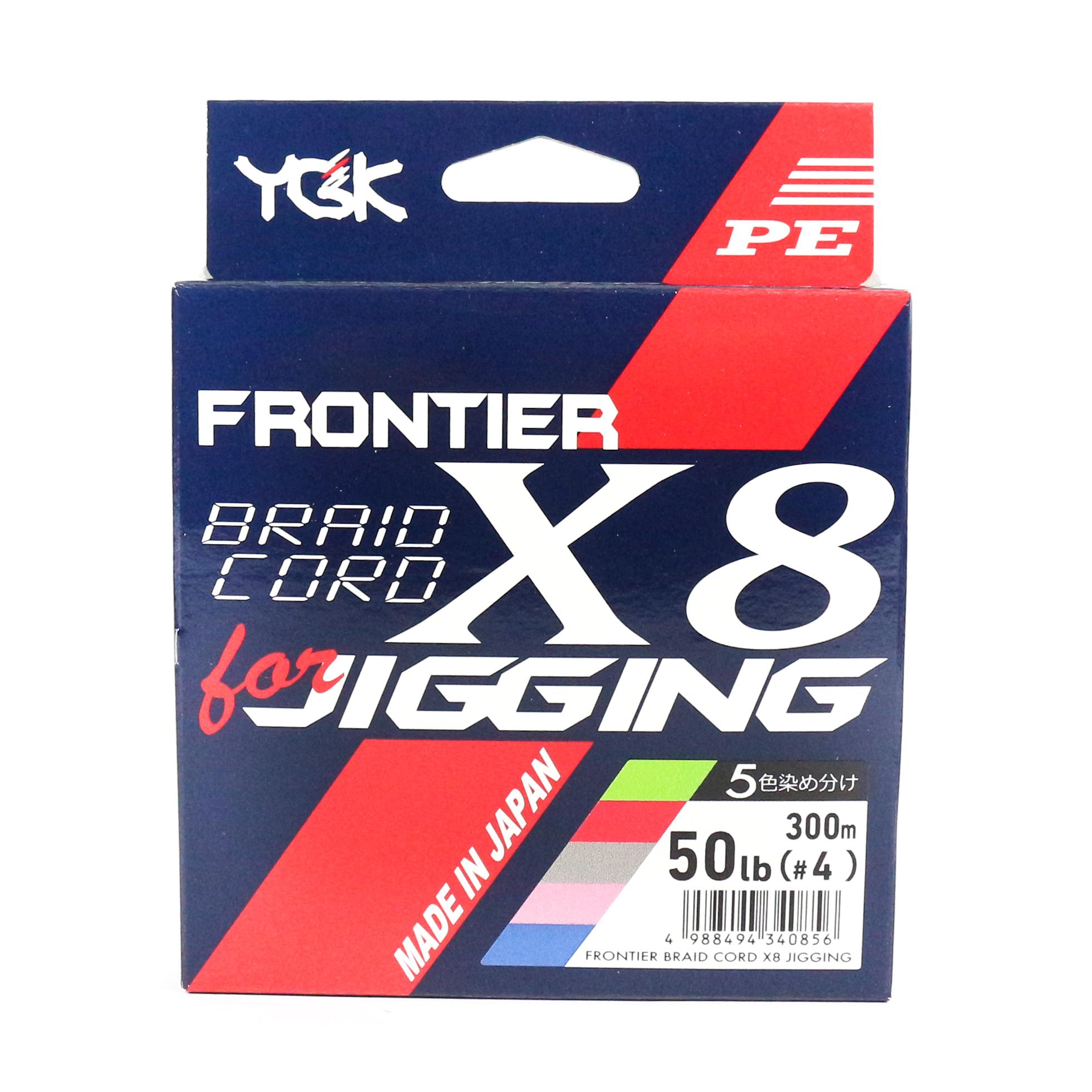 Sale YGK P.E Line Frontier WX8 Braid Cord Line 300m P.E 4 , 50lb (0856)