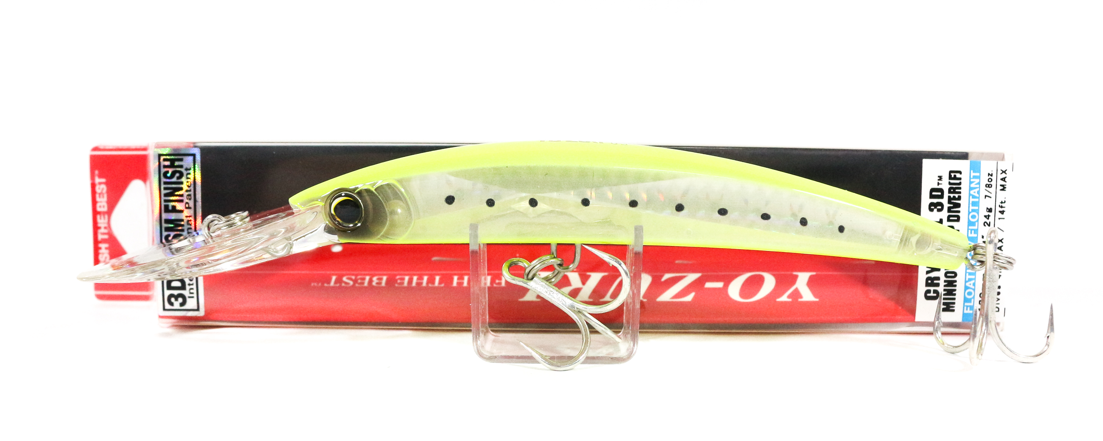 Yo Zuri 3D Crystal Minnow DD 130 mm Floating Lure F1153-GHCS (6508)