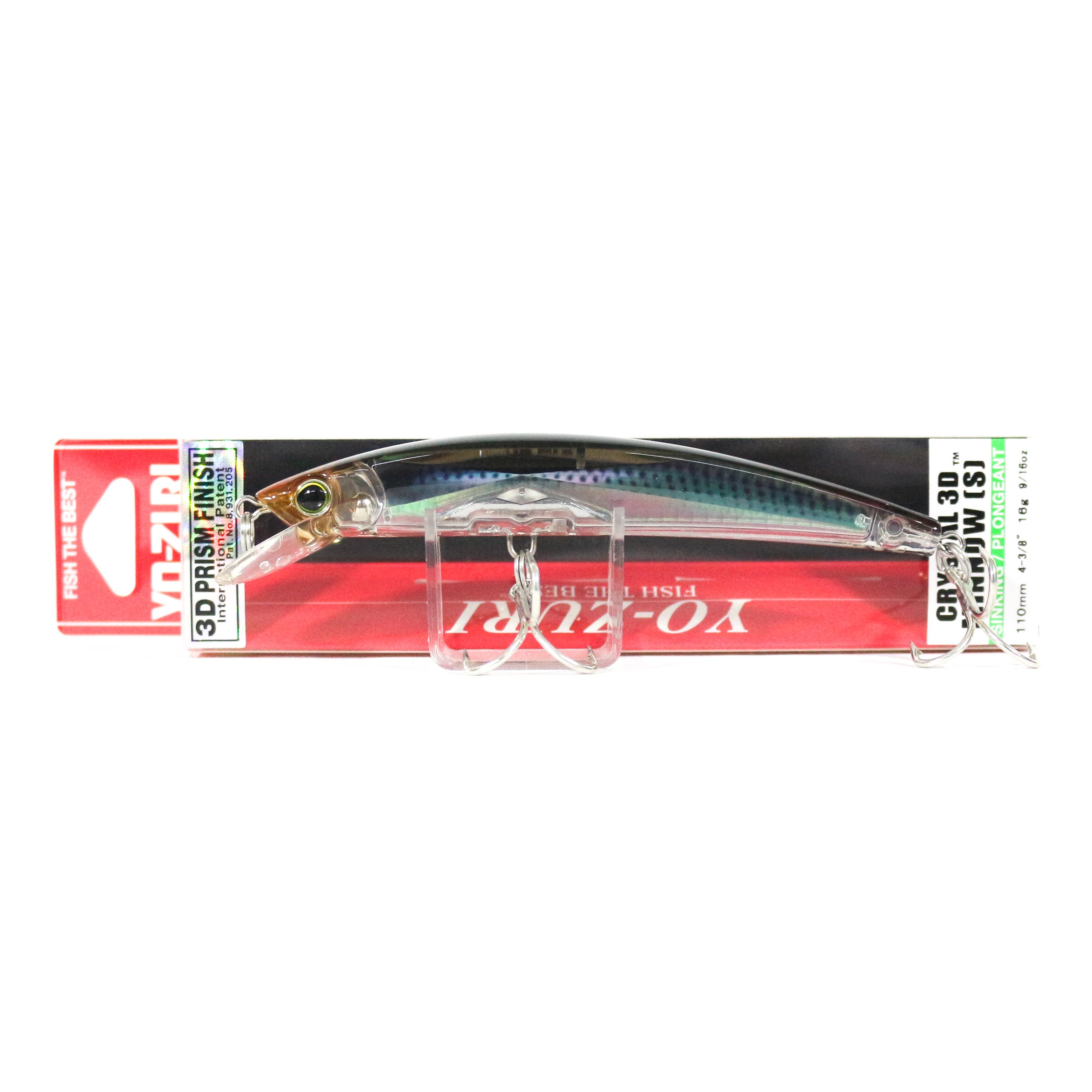 Yo Zuri 3D Crystal Minnow 110 mm Sinking Lure F1149-RMT (2145)