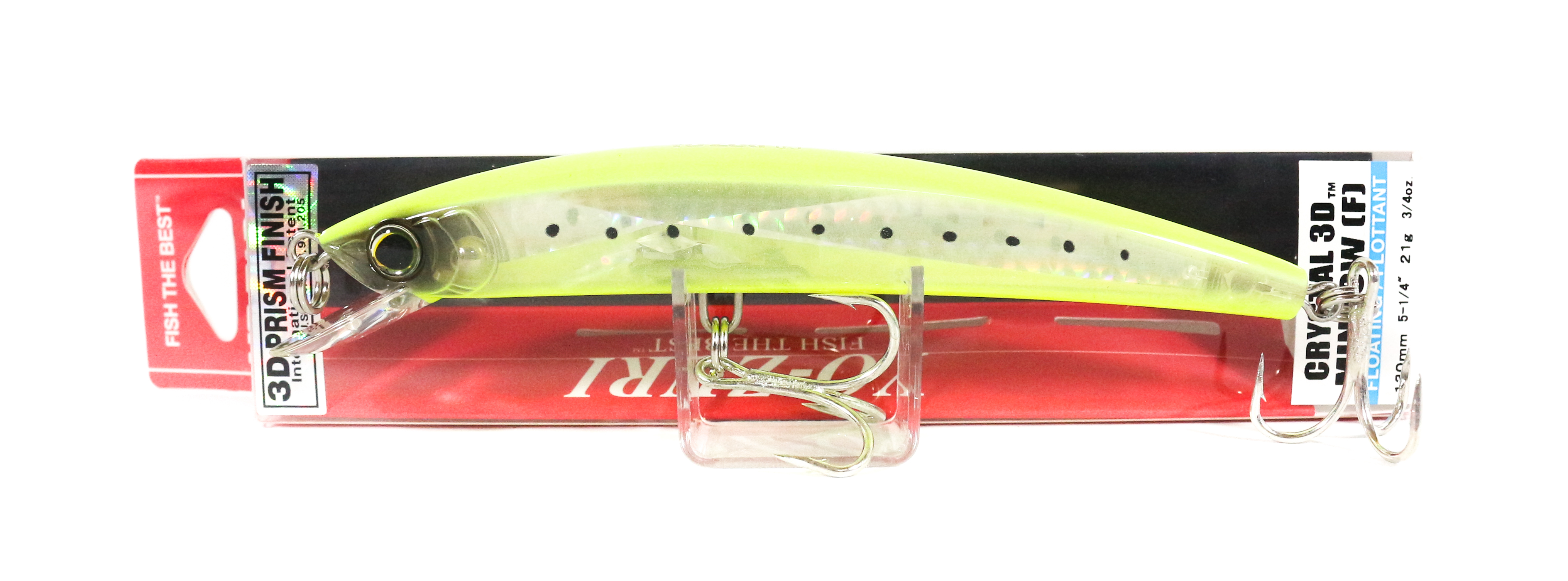Yo Zuri 3D Crystal Minnow 130 mm Floating Lure F1147-GHCS (5860)