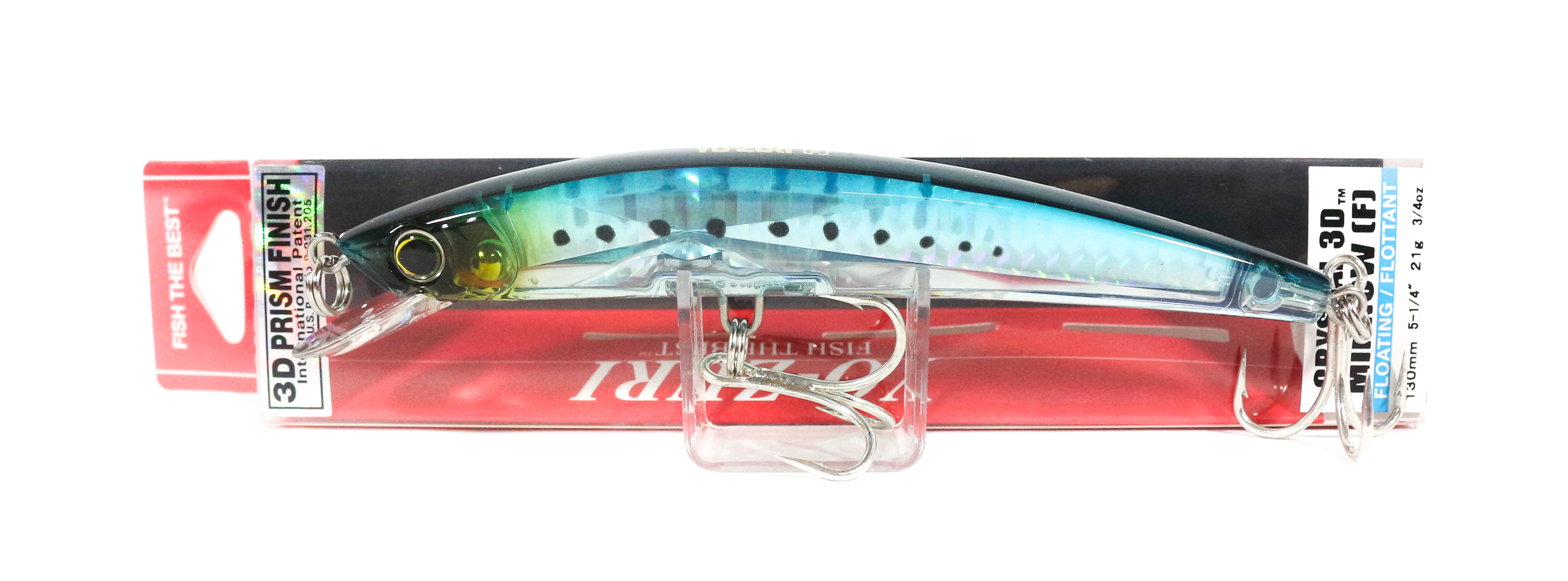 Yo Zuri 3D Crystal Minnow 130 mm Floating Lure F1147-GHIW (5884)
