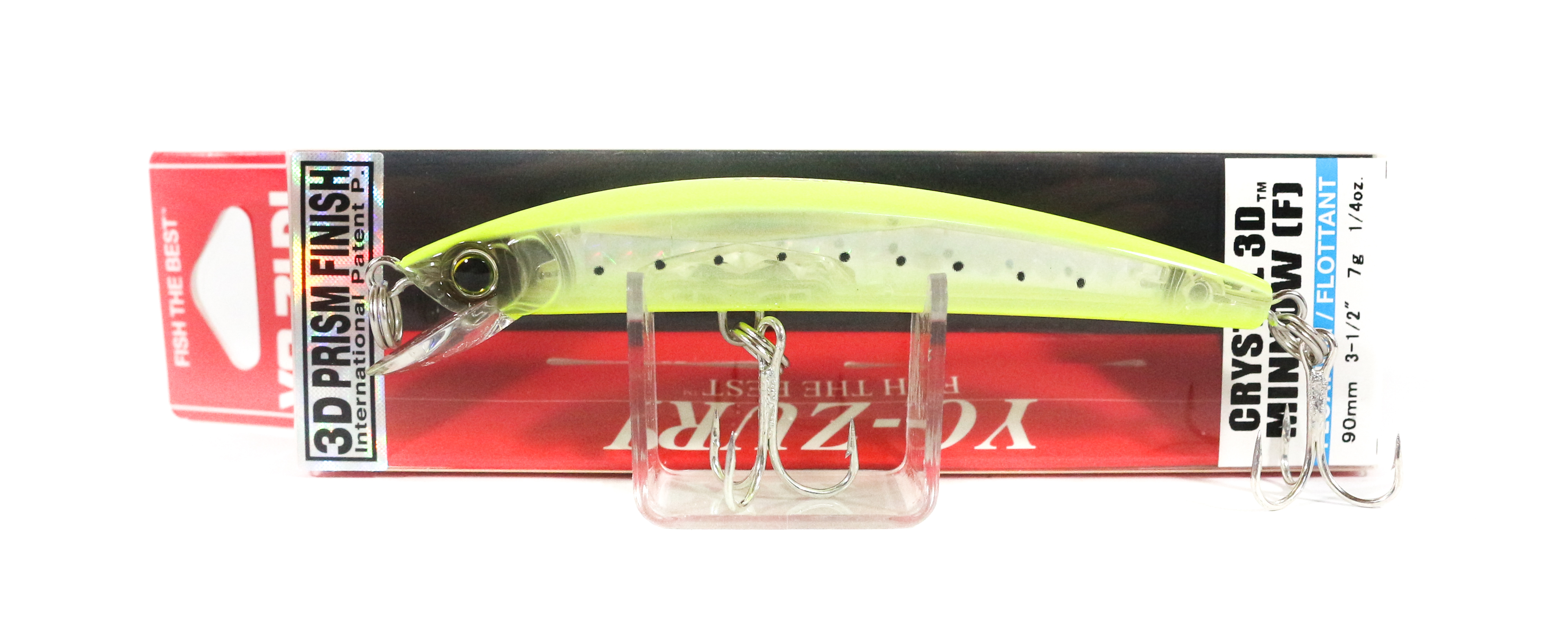 Yo Zuri 3D Crystal Minnow 90 mm Floating Lure F1145-GHCS (5549)