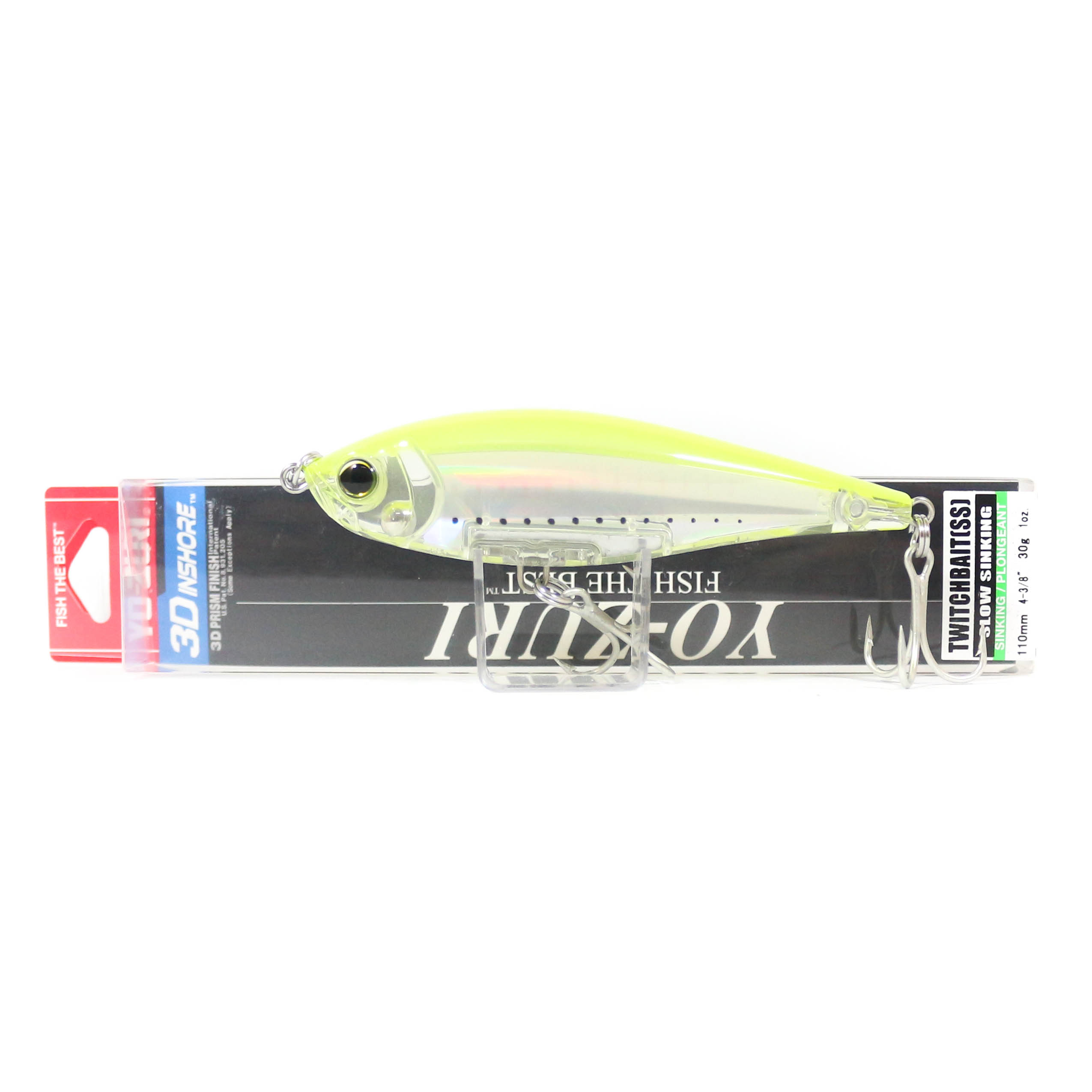 Yo Zuri Duel 3D Inshore Twitchbait 110SS Slow Sinking Lure R1348-GHCS (9328)