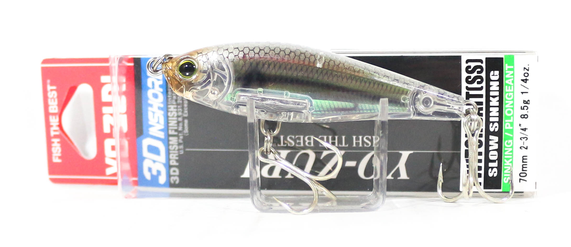 Yo Zuri Duel 3D Inshore Twitchbait 70SS Slow Sinking Lure R1207-RGLM (8291)