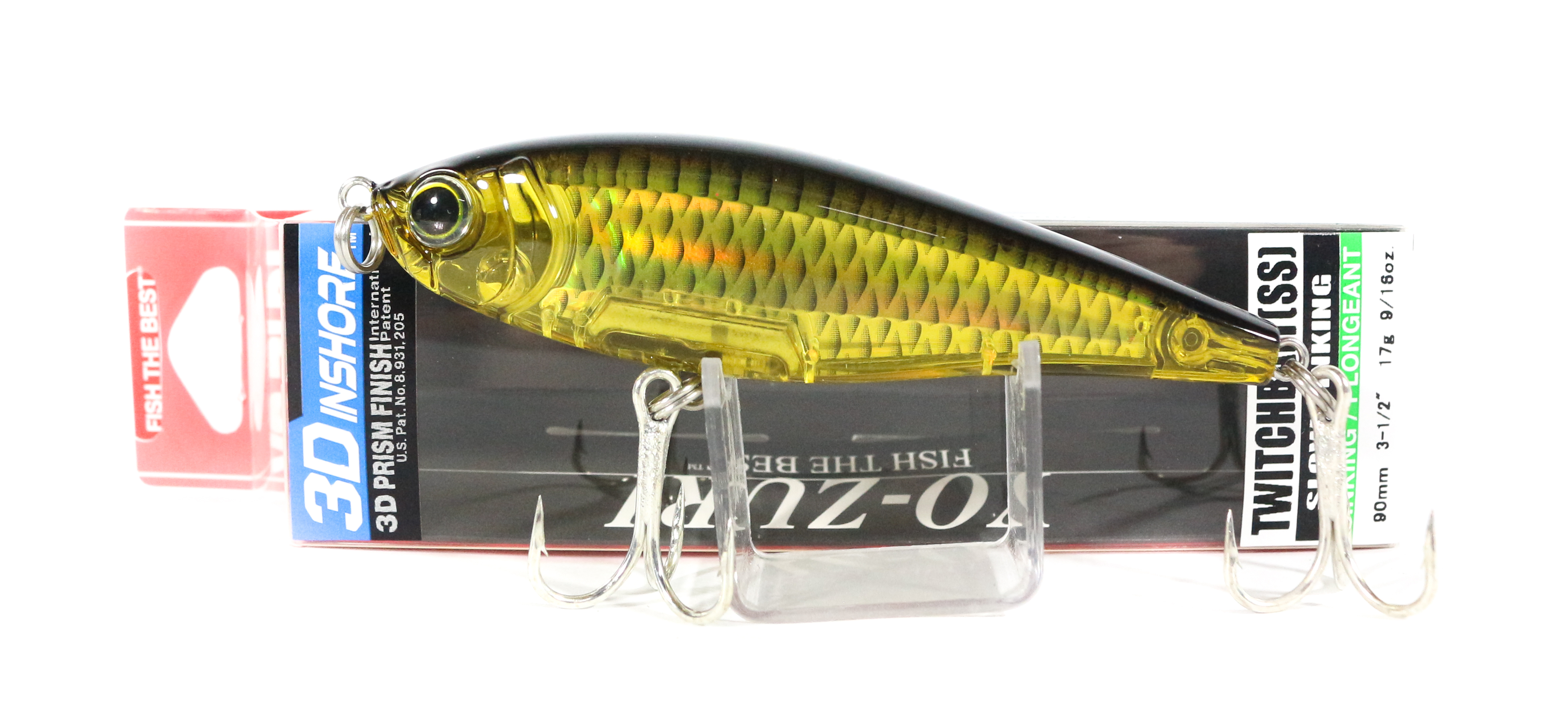 Yo Zuri Duel 3D Inshore Twitchbait 90SS Slow Sinking Lure R1208-HGBL (3402)