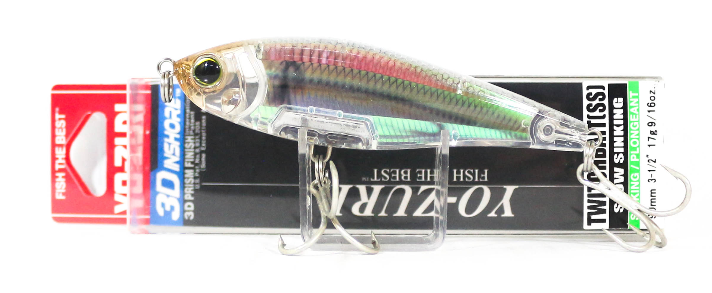 Yo Zuri Duel 3D Inshore Twitchbait 90SS Slow Sinking Lure R1208-RGLM (8321)