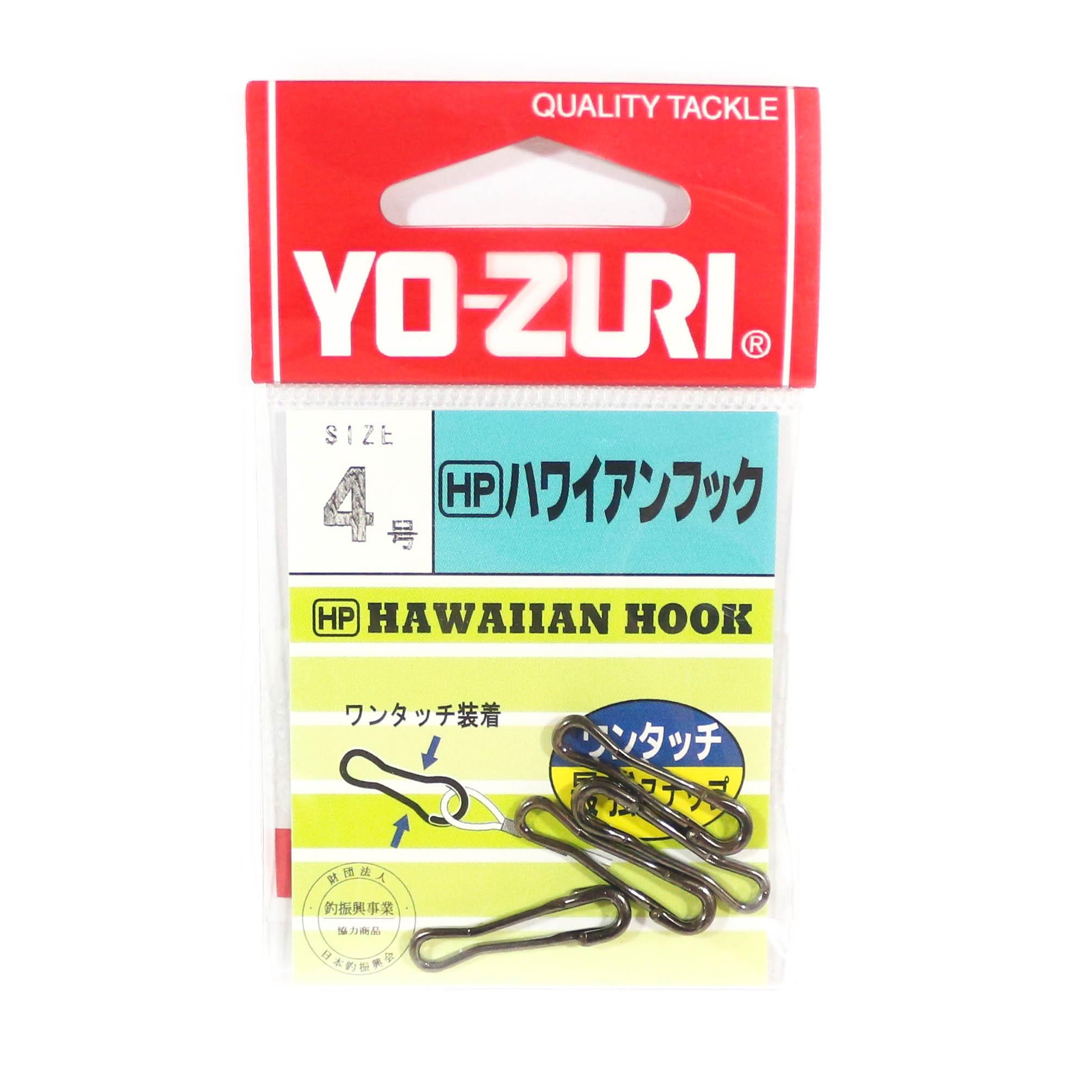 Yo Zuri Hawaiian Snap Super Strong Black Size 4 J663 (0512)