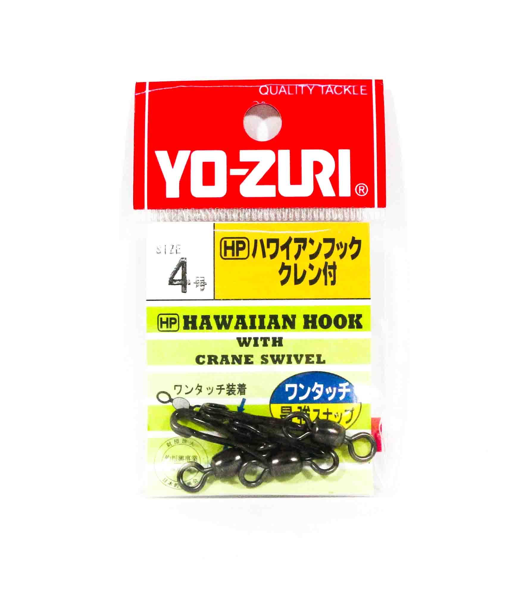 Yo Zuri Hawaiian Snap With Crane Swivel Black Size 4 J669 (6698)