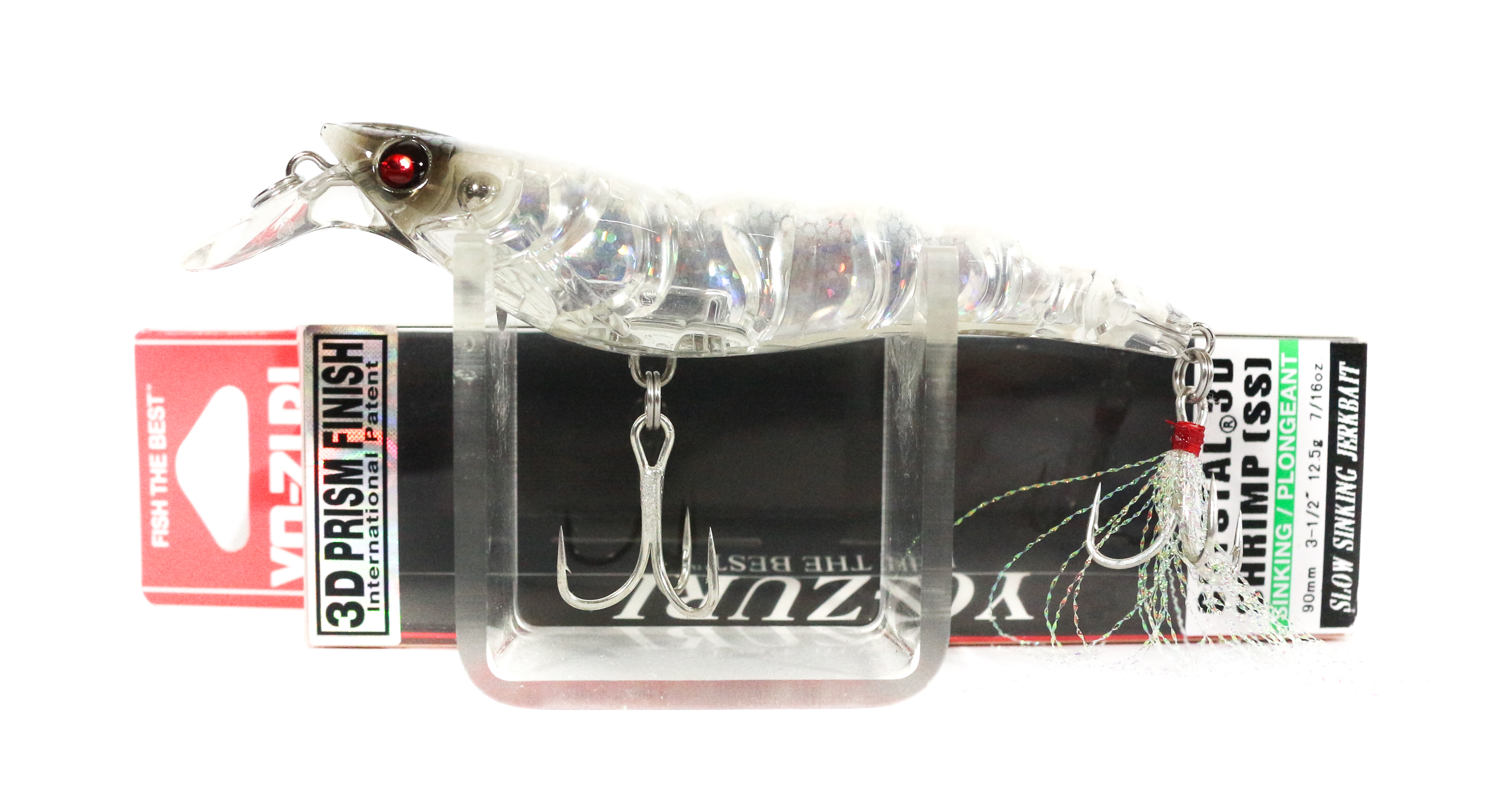 Yo Zuri 3D Crystal Shrimp 90 mm Sinking Lure R1162-HGS (2561)