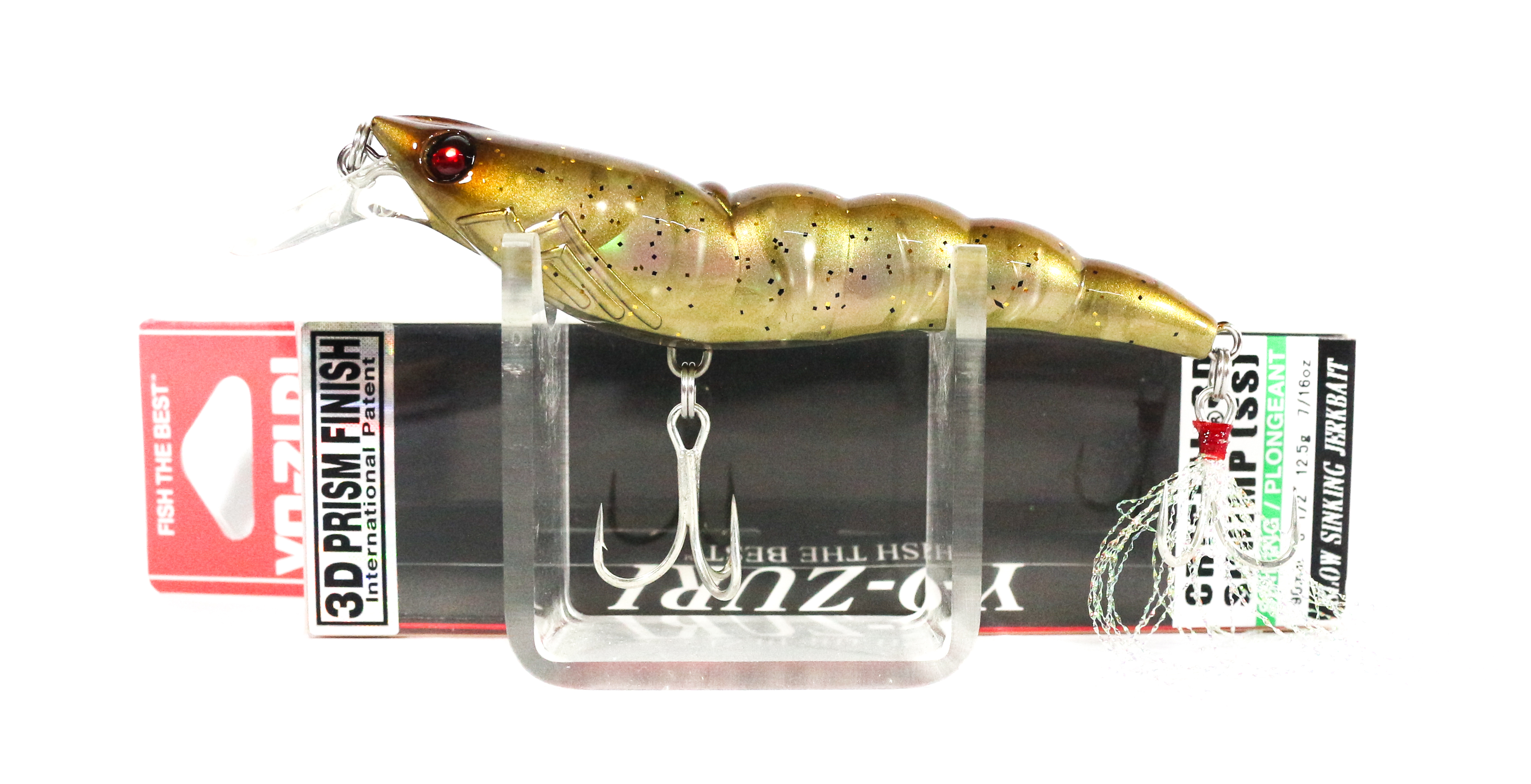Yo Zuri 3D Crystal Shrimp 90 mm Sinking Lure R1162-NPGF (2639)