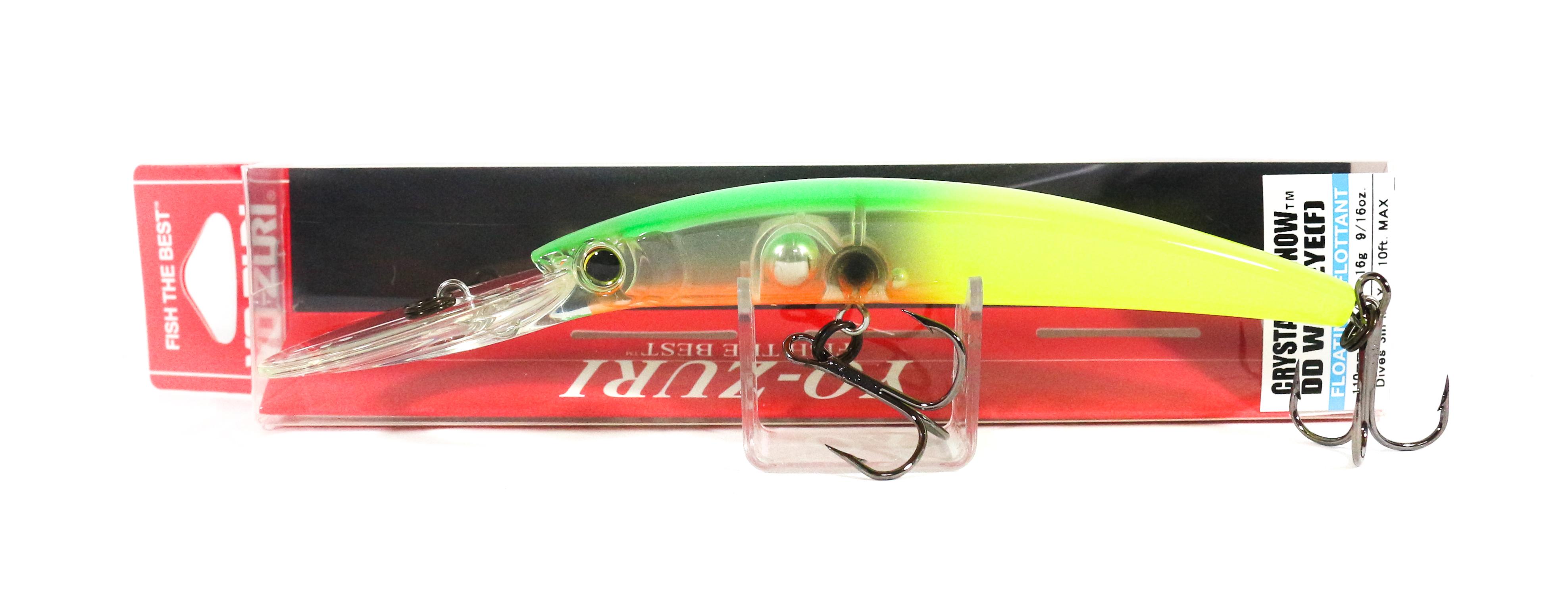 Yo Zuri Crystal Minnow DD Walleye 110 mm Flottant Leurre R1206-BTCL 6831