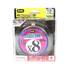 Yo Zuri Duel P.E Line Hardcore X8 300m P.E 1.2 12.0Kg (0.191mm) 5 Color H3386