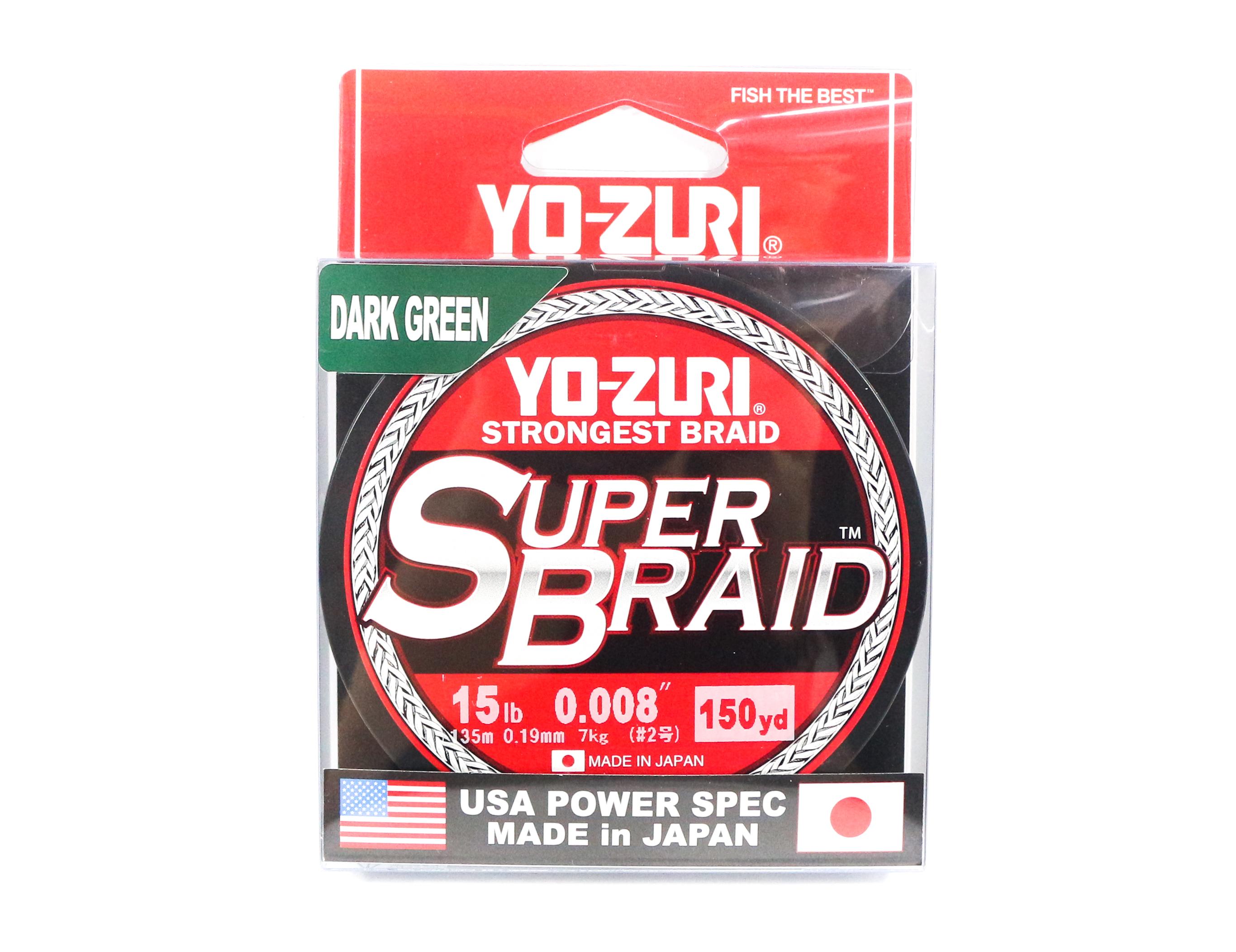 Yo Zuri Duel P.E Line Super Braid 150YDS 15Lbs (0.19mm) Green R1257-DG (1125)