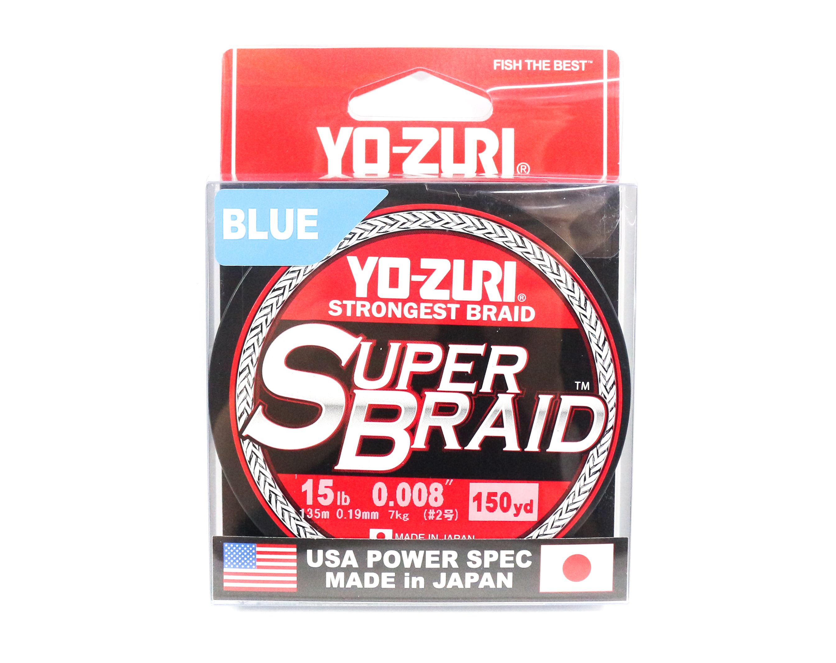Yo Zuri Duel P.E Line Super Braid 150YDS 15Lbs (0.19mm) Blue R1257-B