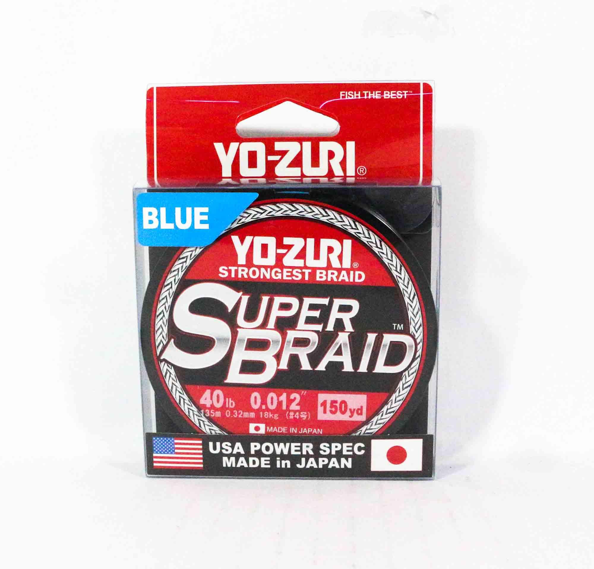 Yo Zuri Duel P.E Line Super Braid 150YDS 40Lbs (0.32mm) Blue R1260-B