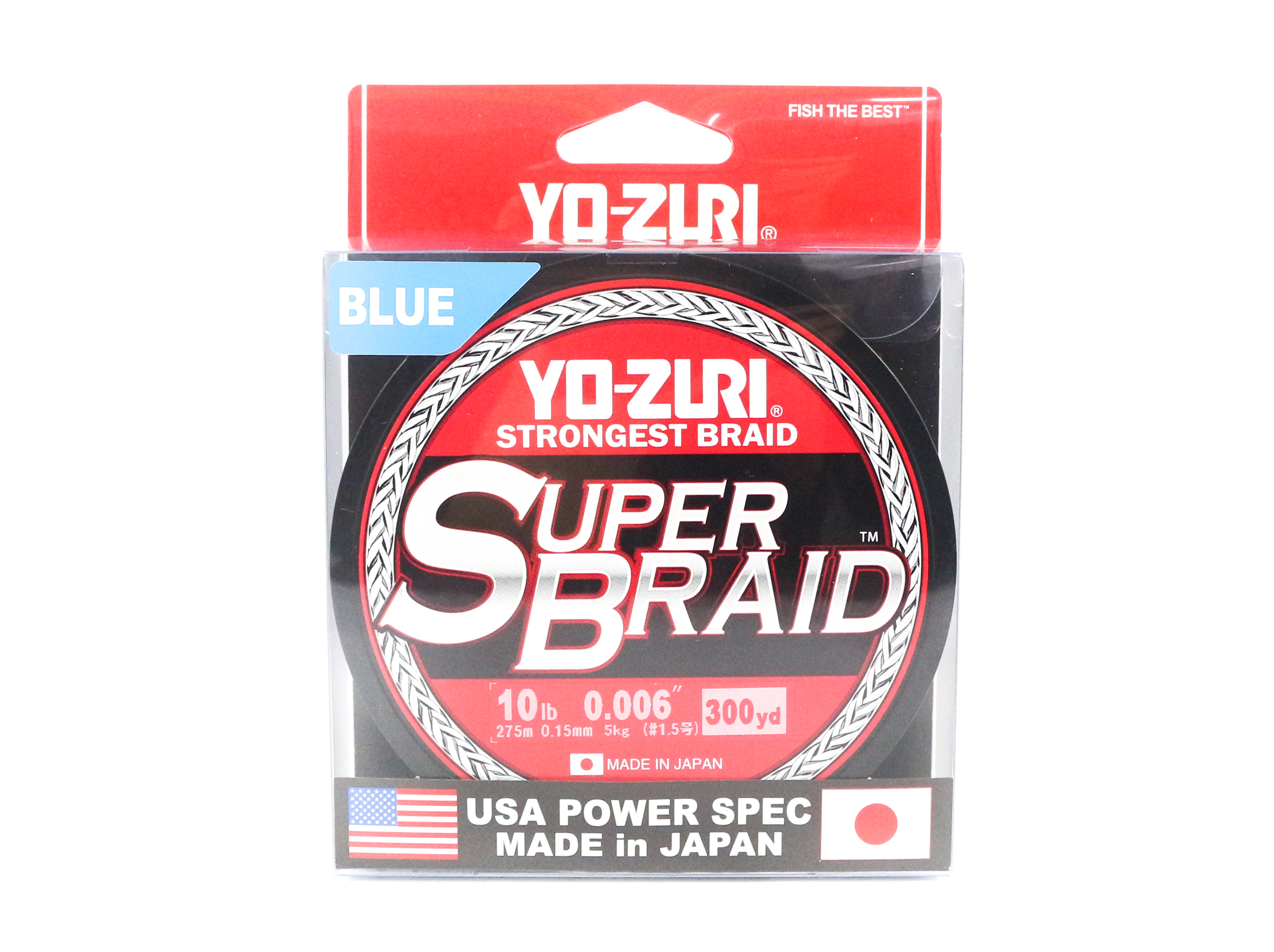 Yo Zuri Duel P.E Line Super Braid 300YDS 10Lbs (0.15mm) Blue R1264-B