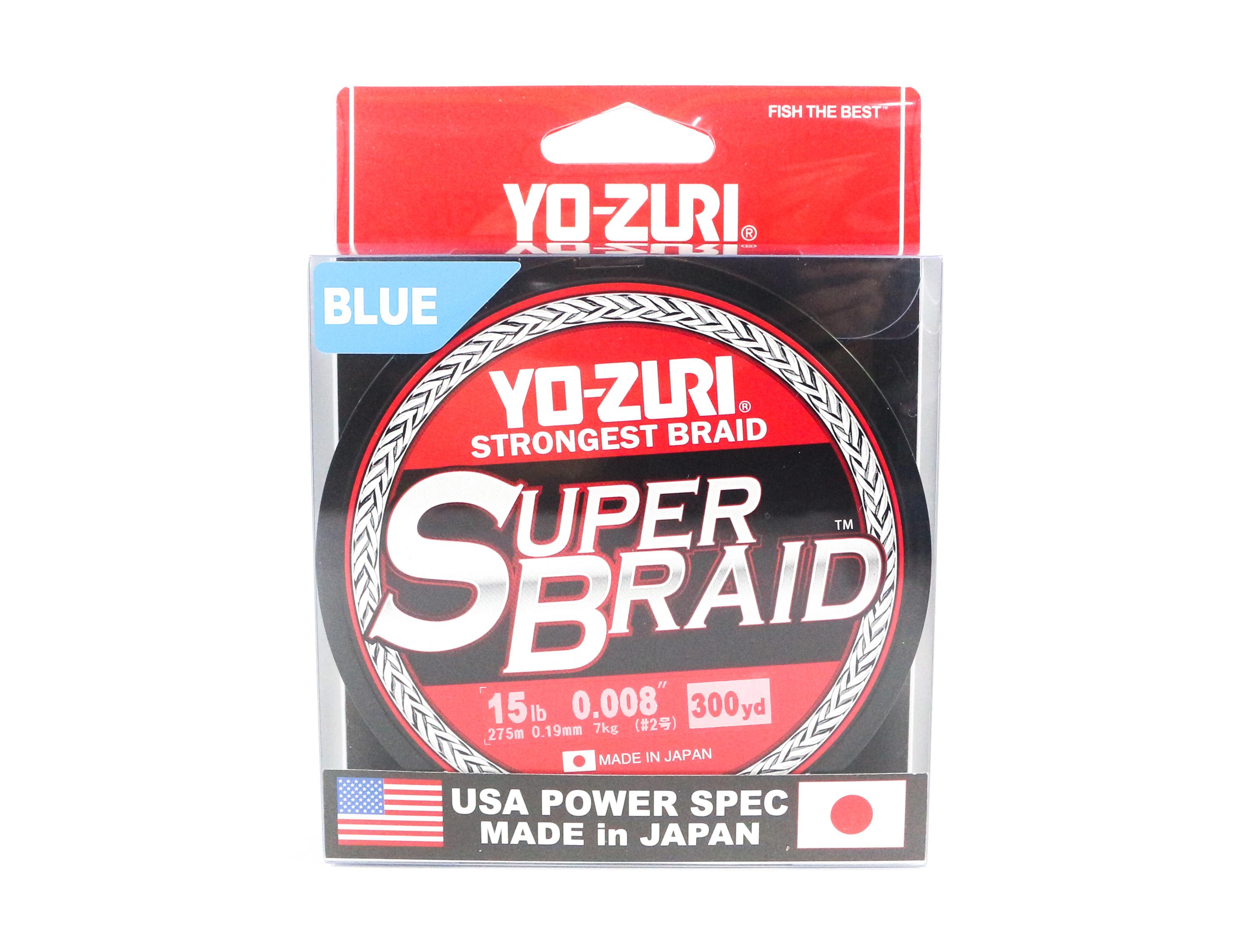 Yo Zuri Duel P.E Line Super Braid 300YDS 15Lbs (0.19mm) Blue R1265-B