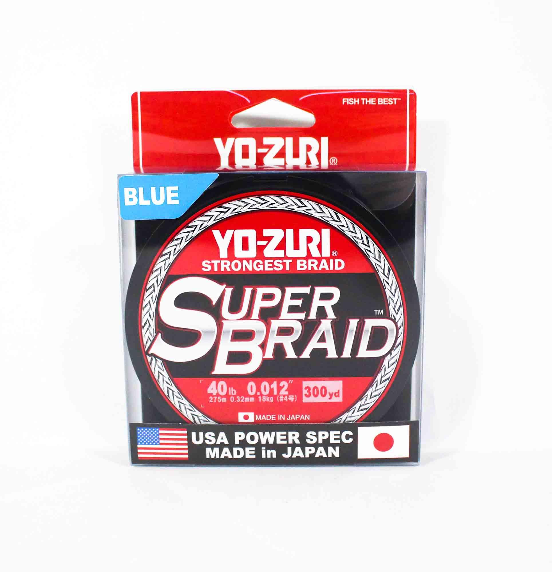 Yo Zuri Duel P.E Line Super Braid 300YDS 40Lbs (0.32mm) Blue R1268-B (1354)
