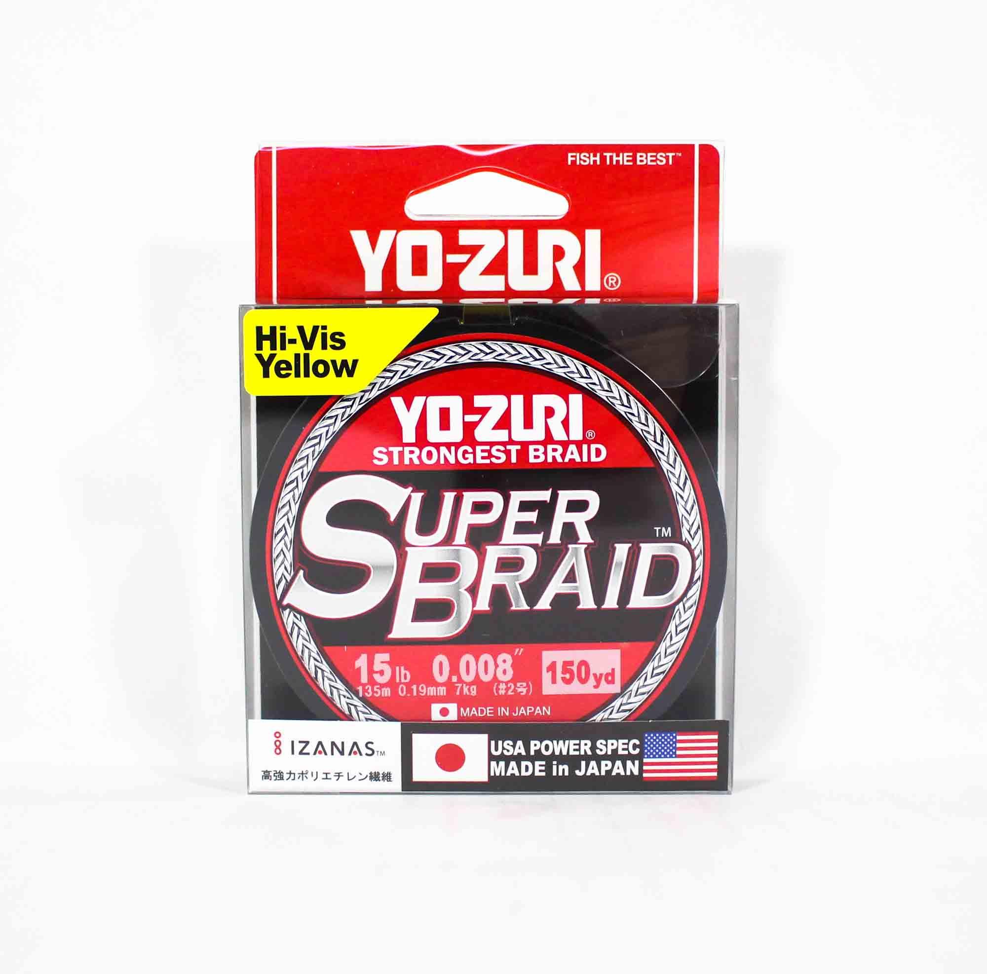 Yo Zuri Duel P.E Line Super Braid 150YDS 15Lbs (0.19mm) Yellow R1257-Y (5535)