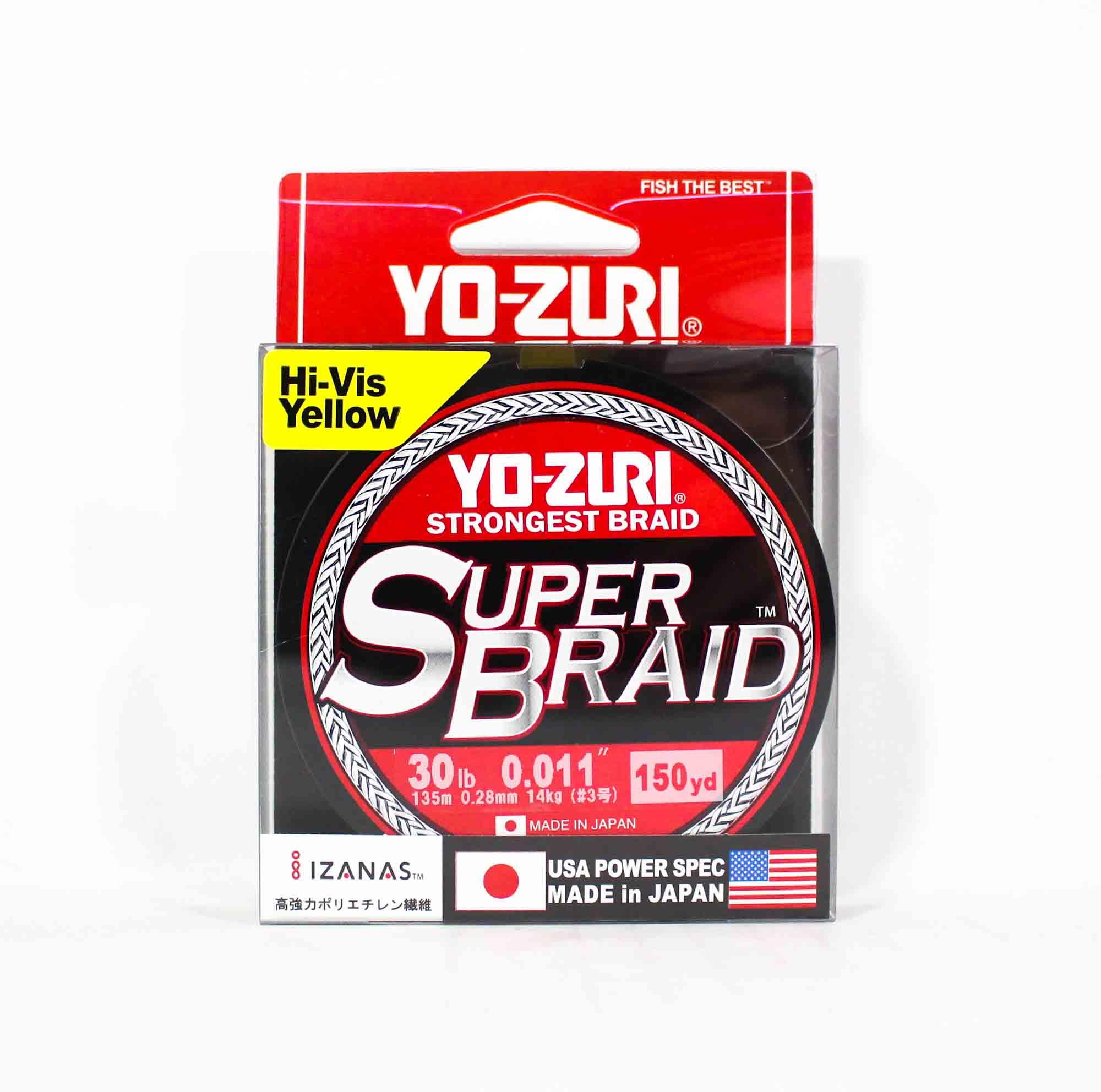 Yo Zuri Duel P.E Line Super Braid 150YDS 30Lbs (0.28mm) Yellow R1259-Y (5559)