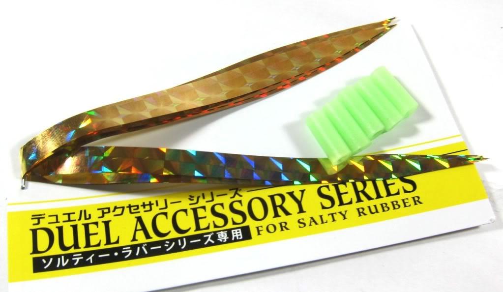 Yo Zuri Duel Spare Holographic Wide Vibe Tail Inchiku Madai Jig F912-BHG (6499)