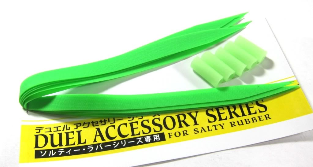Yo Zuri Duel Spare Rubber Wide Vibe Tail for Inchiku Madai Jig F911-L (6444)