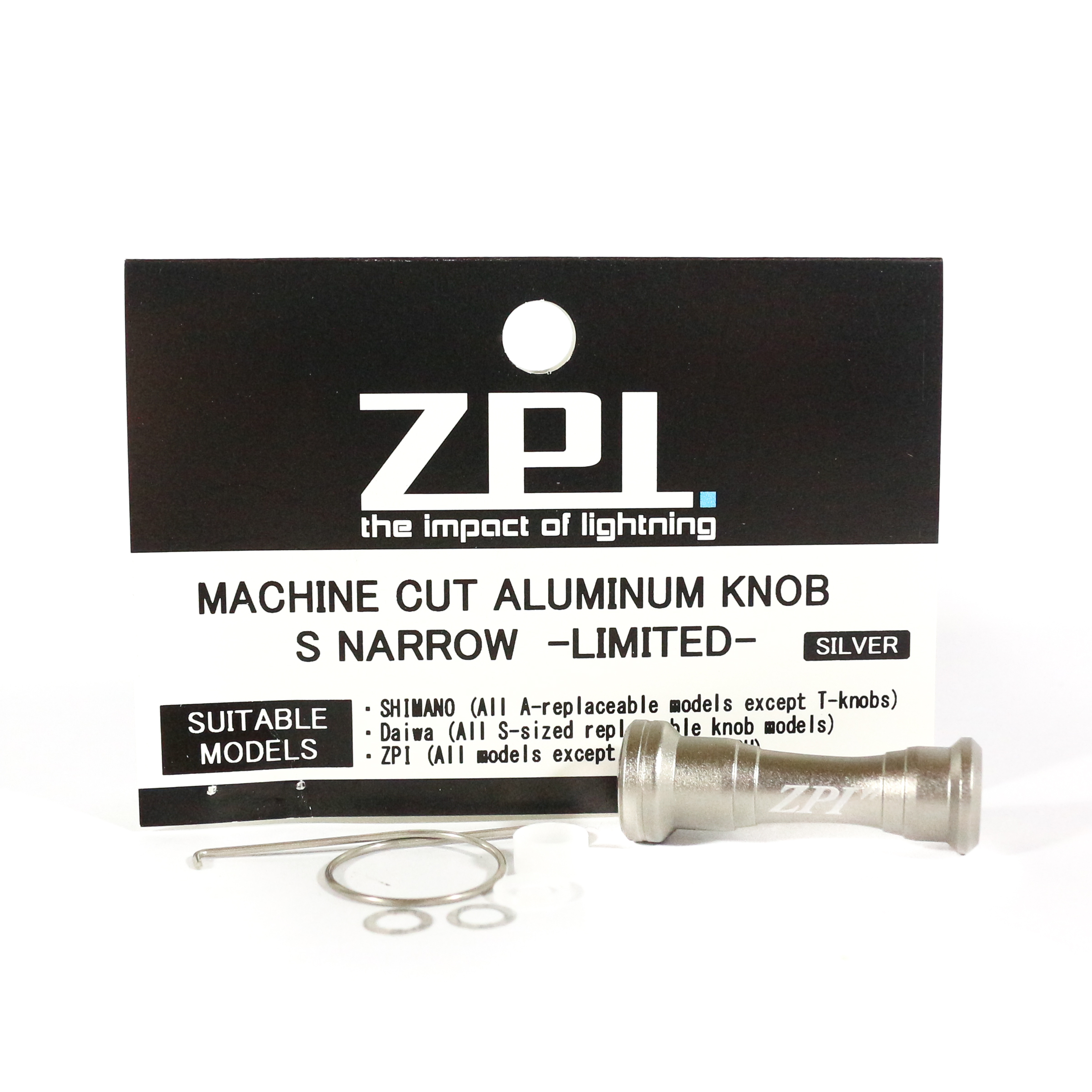 ZPI Aluminium S Narrow Ltd Knob 2.5 grams 34mm x 12mm Shimano Daiwa SL (0005)