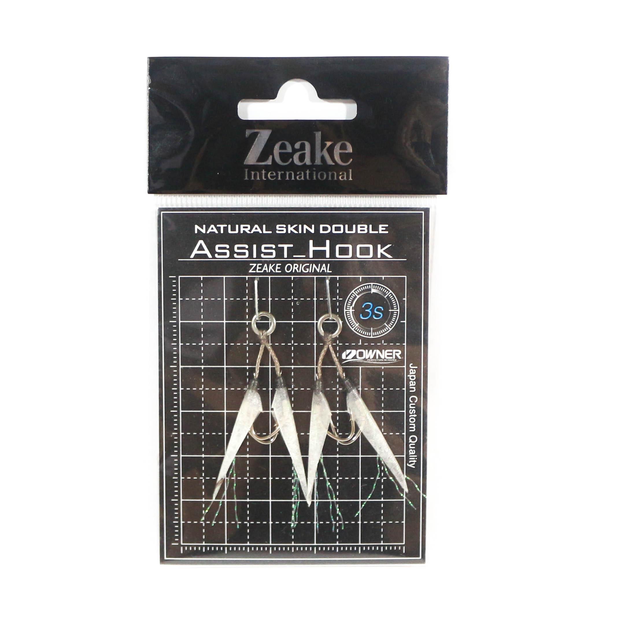 Zeake Assist Hook Double Fish Skin SLJ 2 per pack 3S (Size 8) (3032)