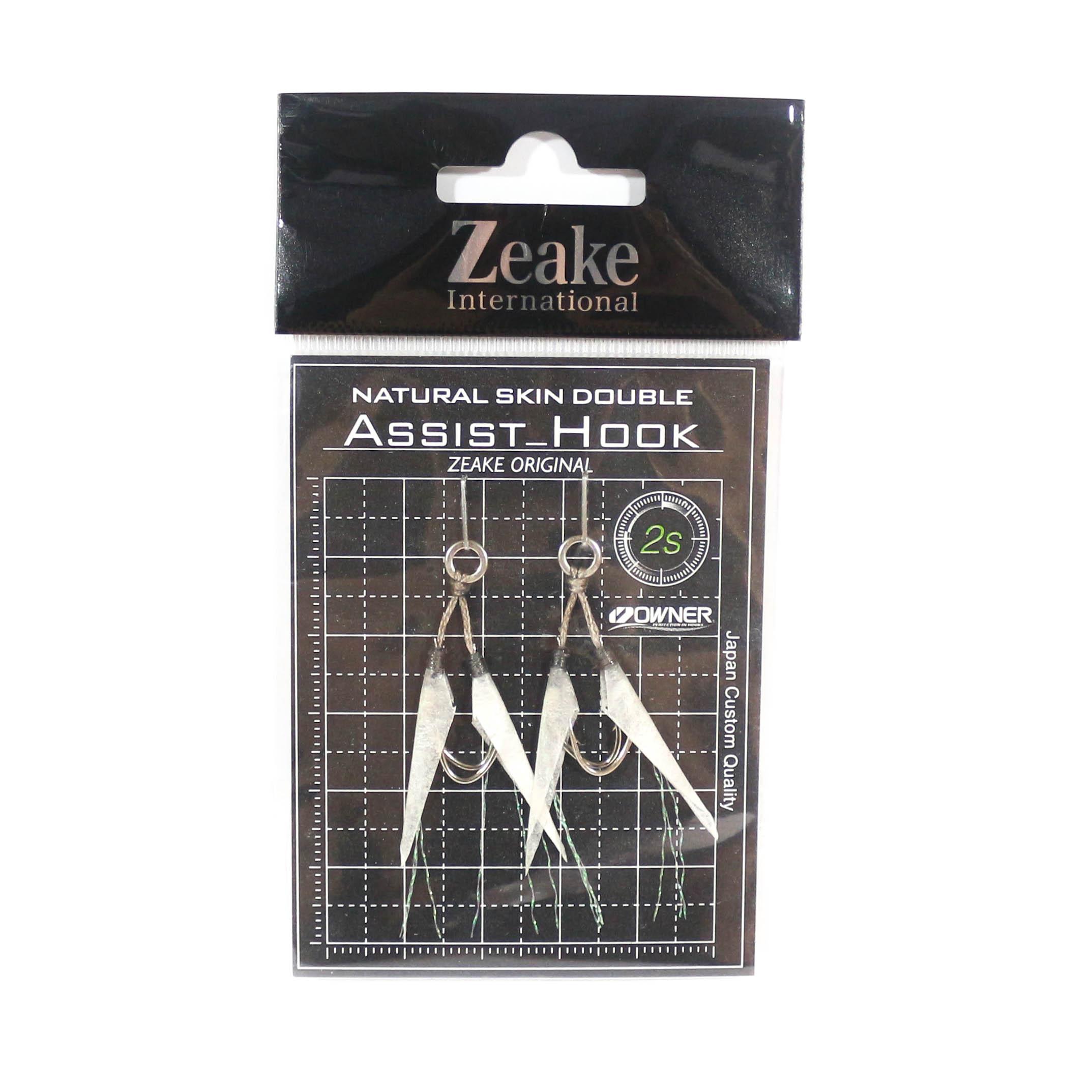 Zeake Assist Hook Double Fish Skin SLJ 2 per pack 2S (Size 9) (3049)