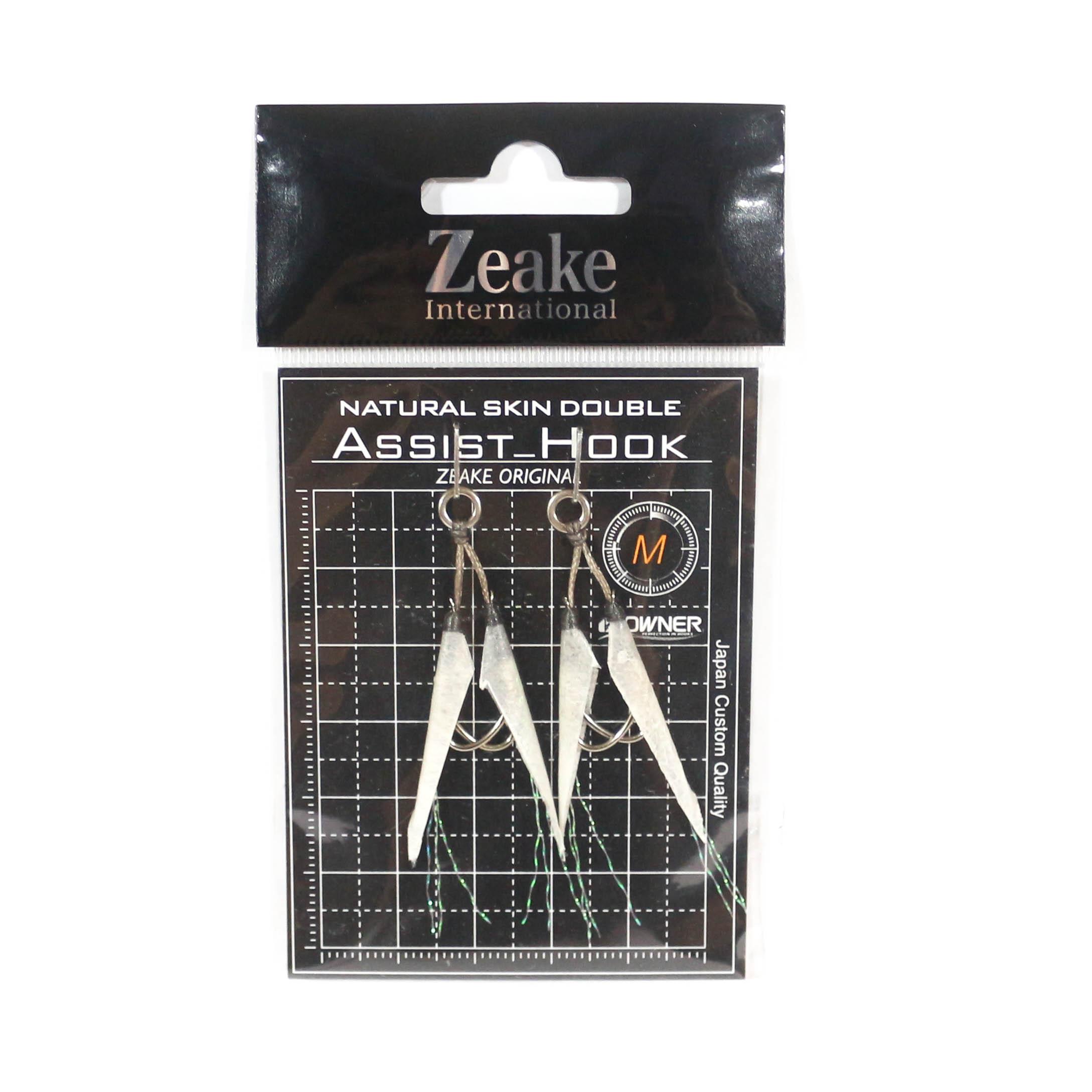 Zeake Assist Hook Double Fish Skin SLJ 2 per pack M (Size 4) (3063)