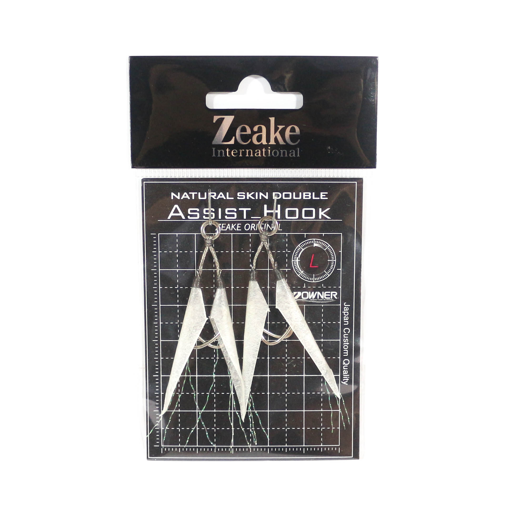Zeake Assist Hook Double Fish Skin SLJ 2 per pack L (Size 3) (3070)