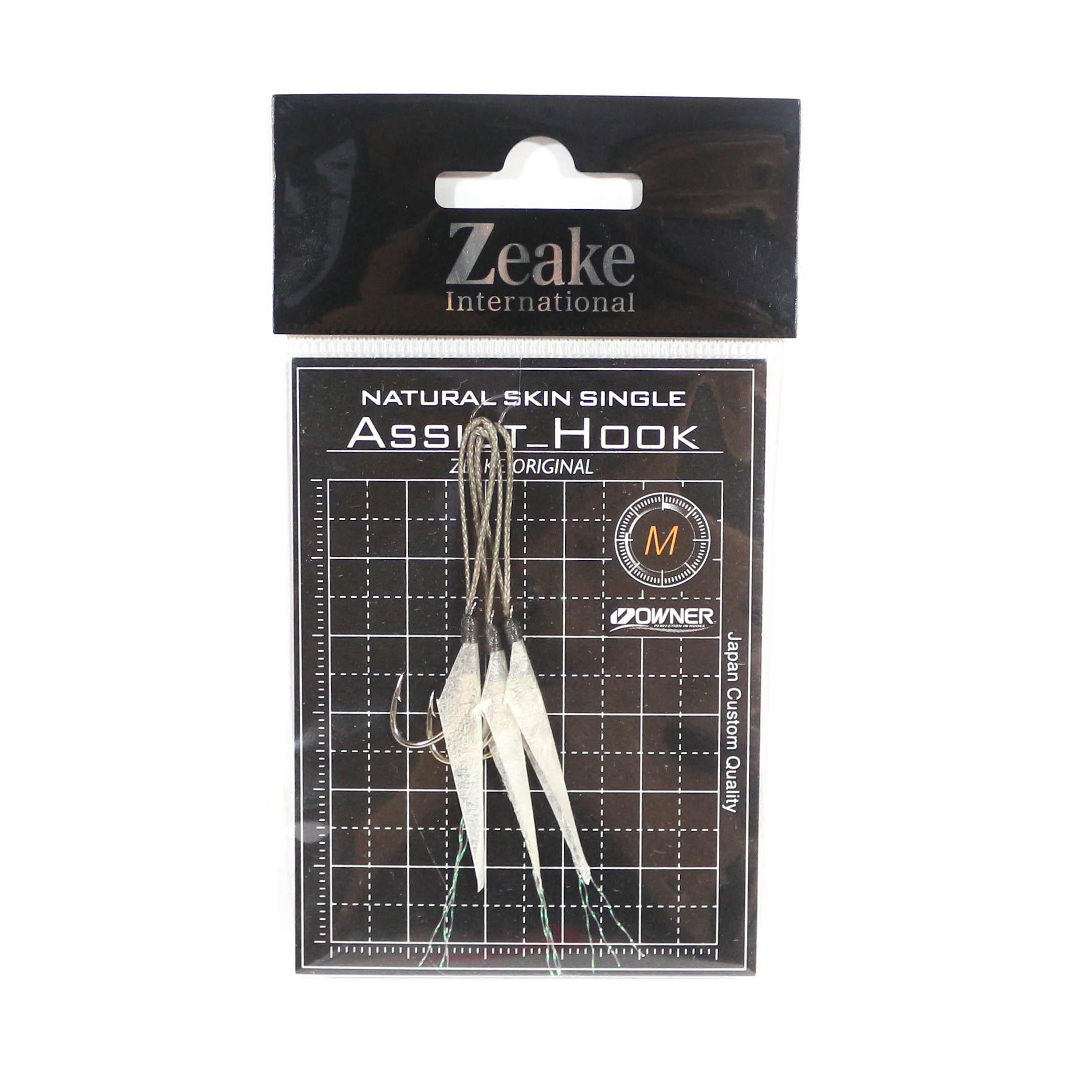 Zeake Assist Hook Single Fish Skin SLJ 3 per pack M (Size 4) (1984)