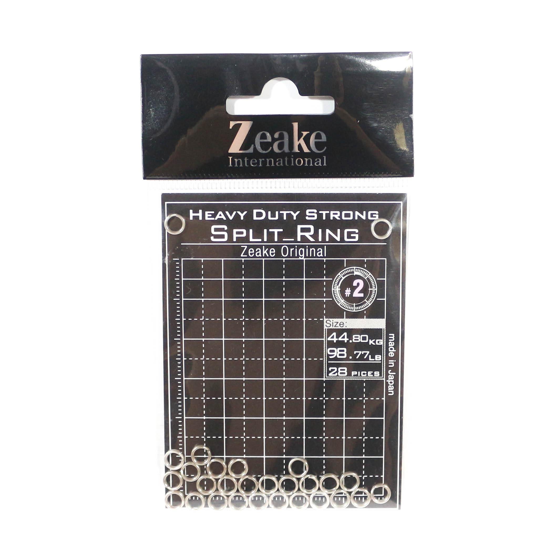Zeake Split Rings Heavy Duty Size 2, 98.77lb - 28 rings 2 (3186)