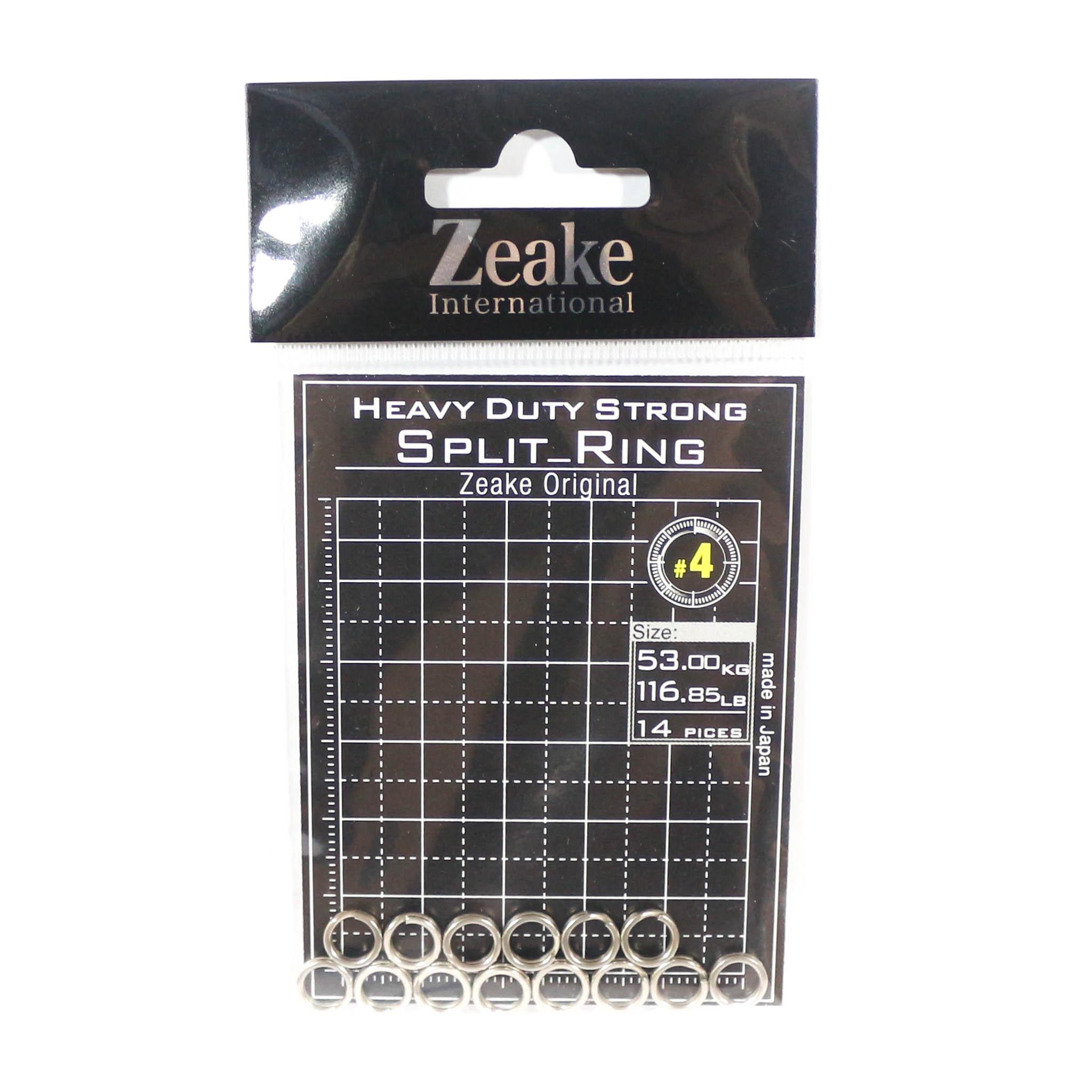 Zeake Split Rings Heavy Duty Size 4, 116.85lb - 14 rings 4 (3209)