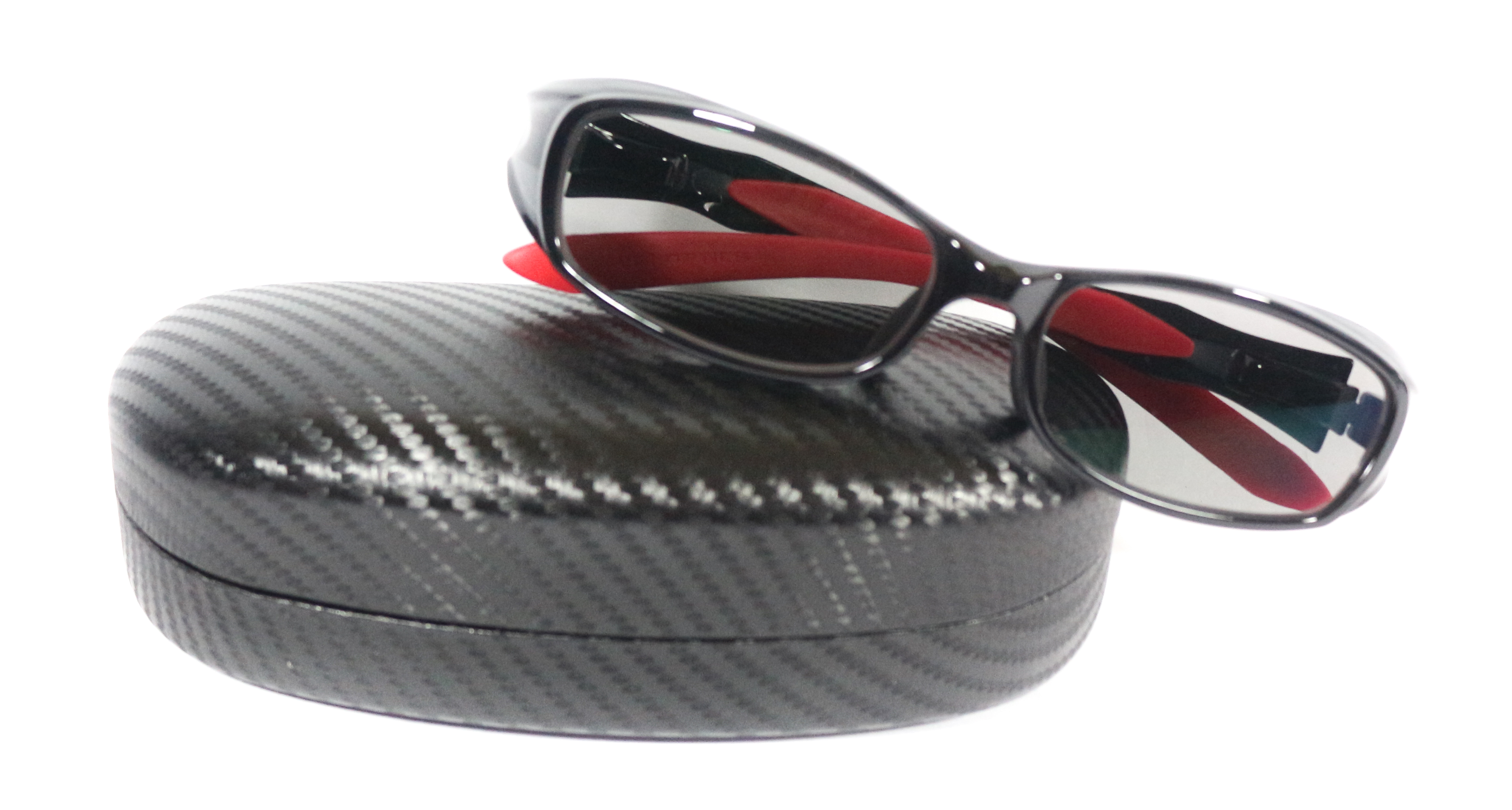 Zeal Polarised Fishing Sunglasses Cavaro F-1205 BLACK RED TV (2735)