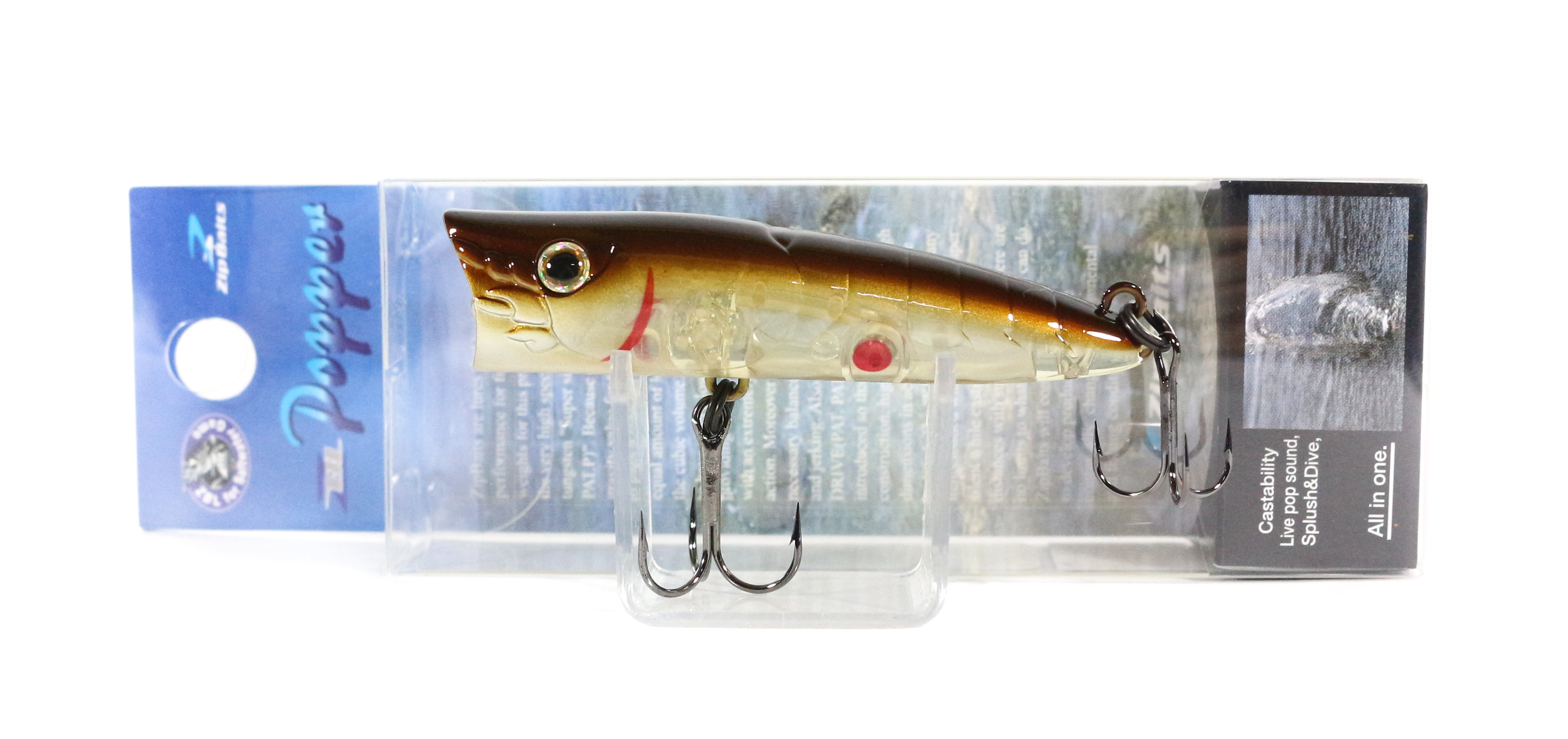 Sale Zipbaits ZBL Popper 68mm Floating Lure 541R (6077)